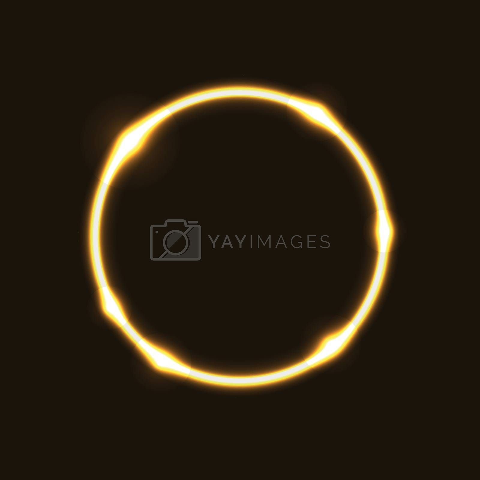 Gold ring circle effect  background , stock vector
