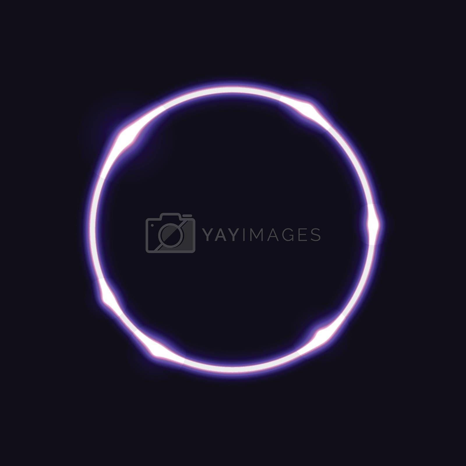 Violet circle effect  background, stock vector