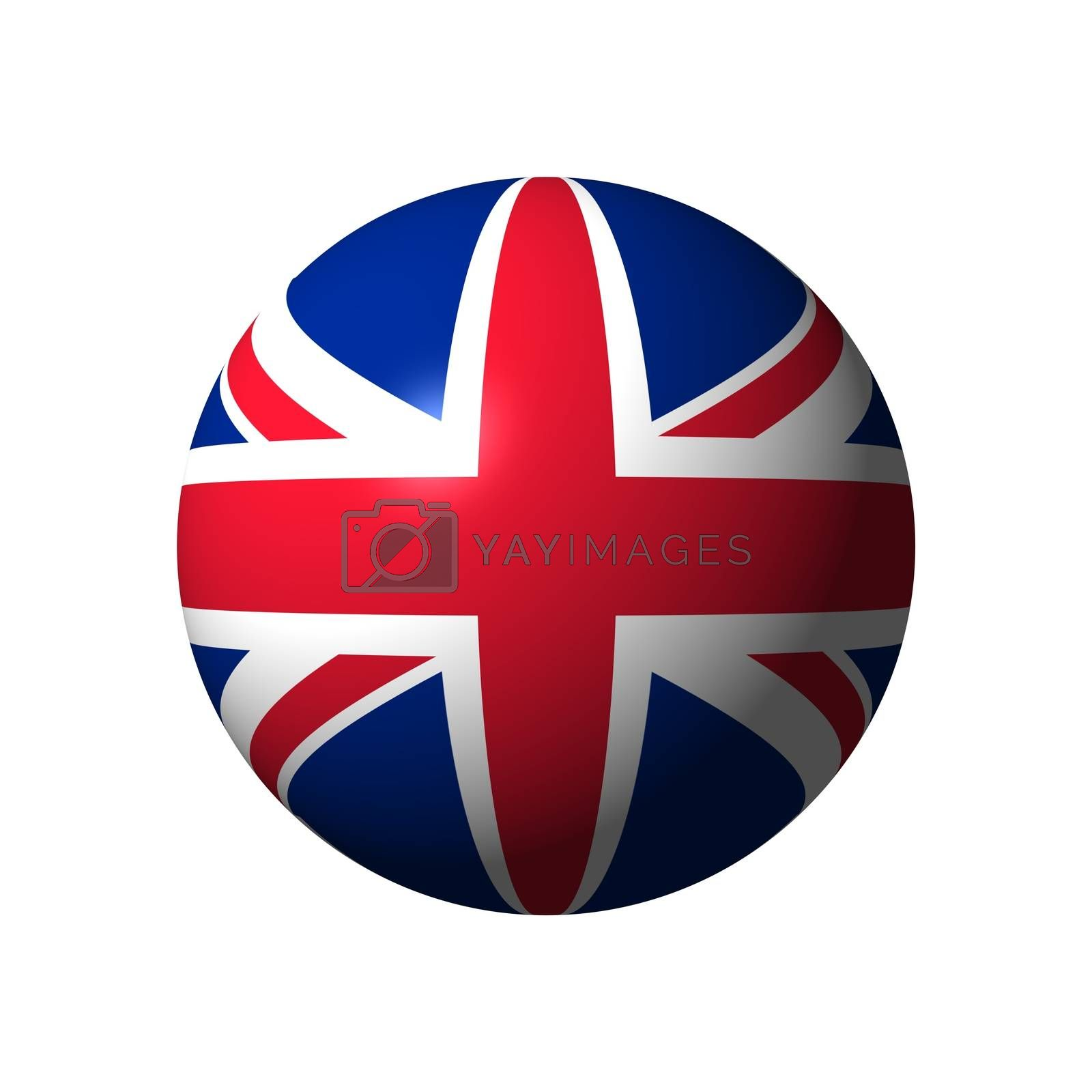 Sphere with flag of UK nation