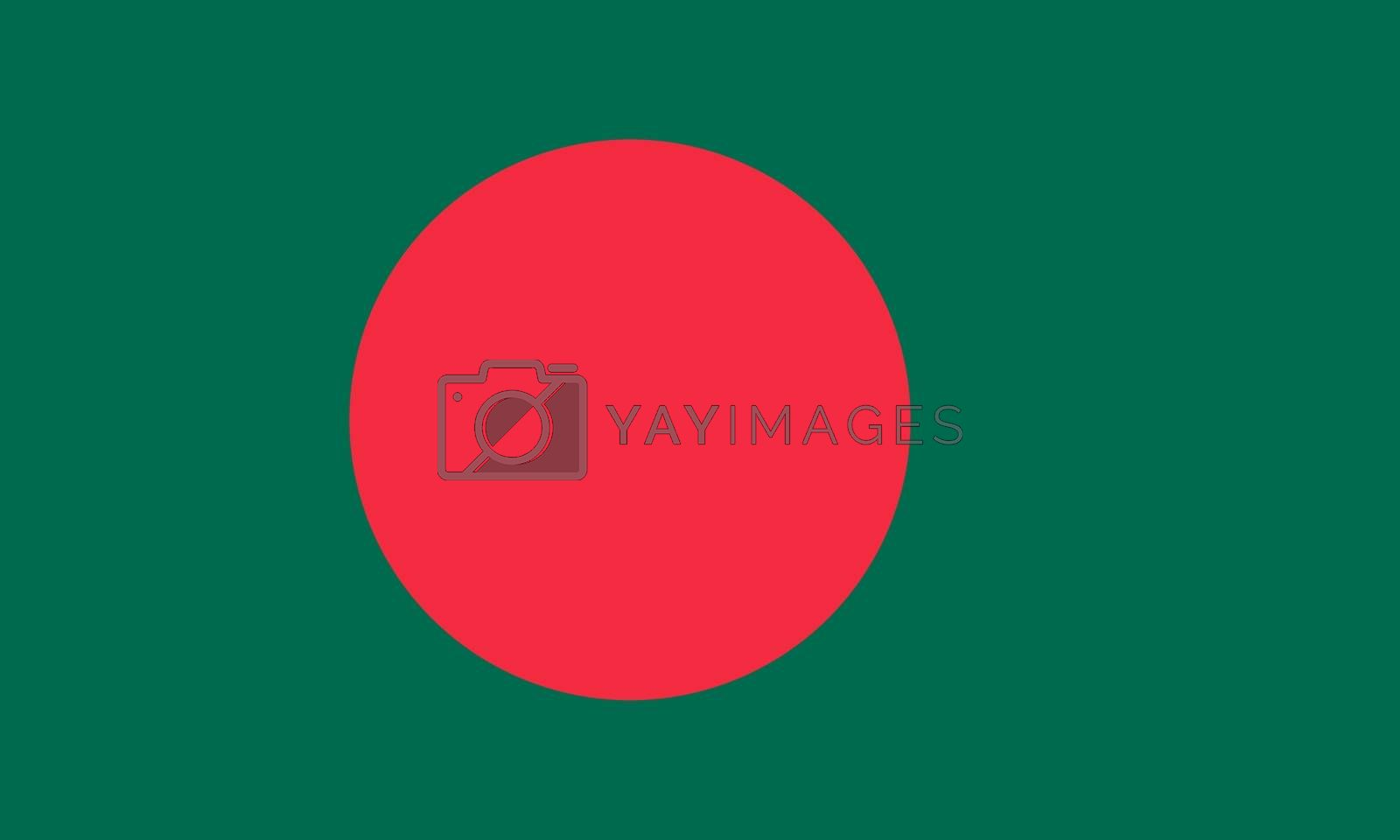 Official flag of Bangladesh nation