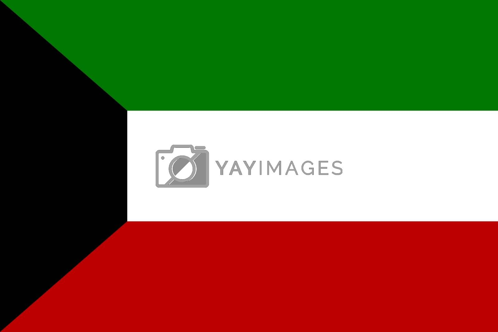 Official flag of Kuwait nation