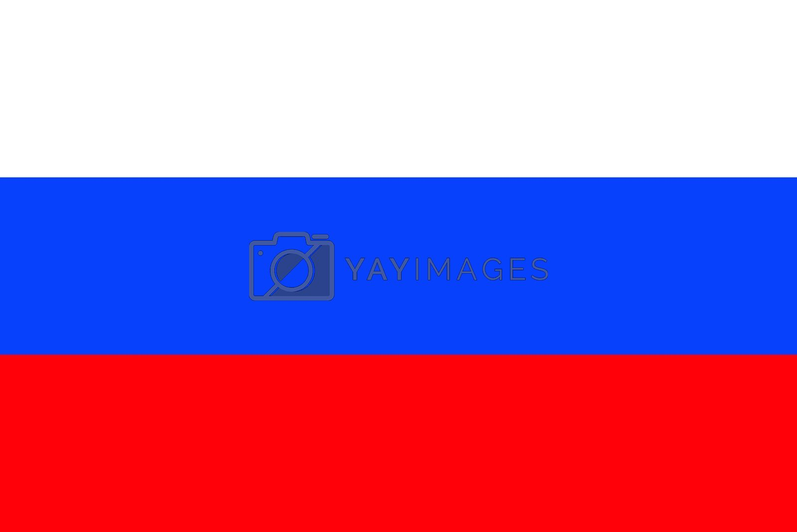 Official flag of Russia nation