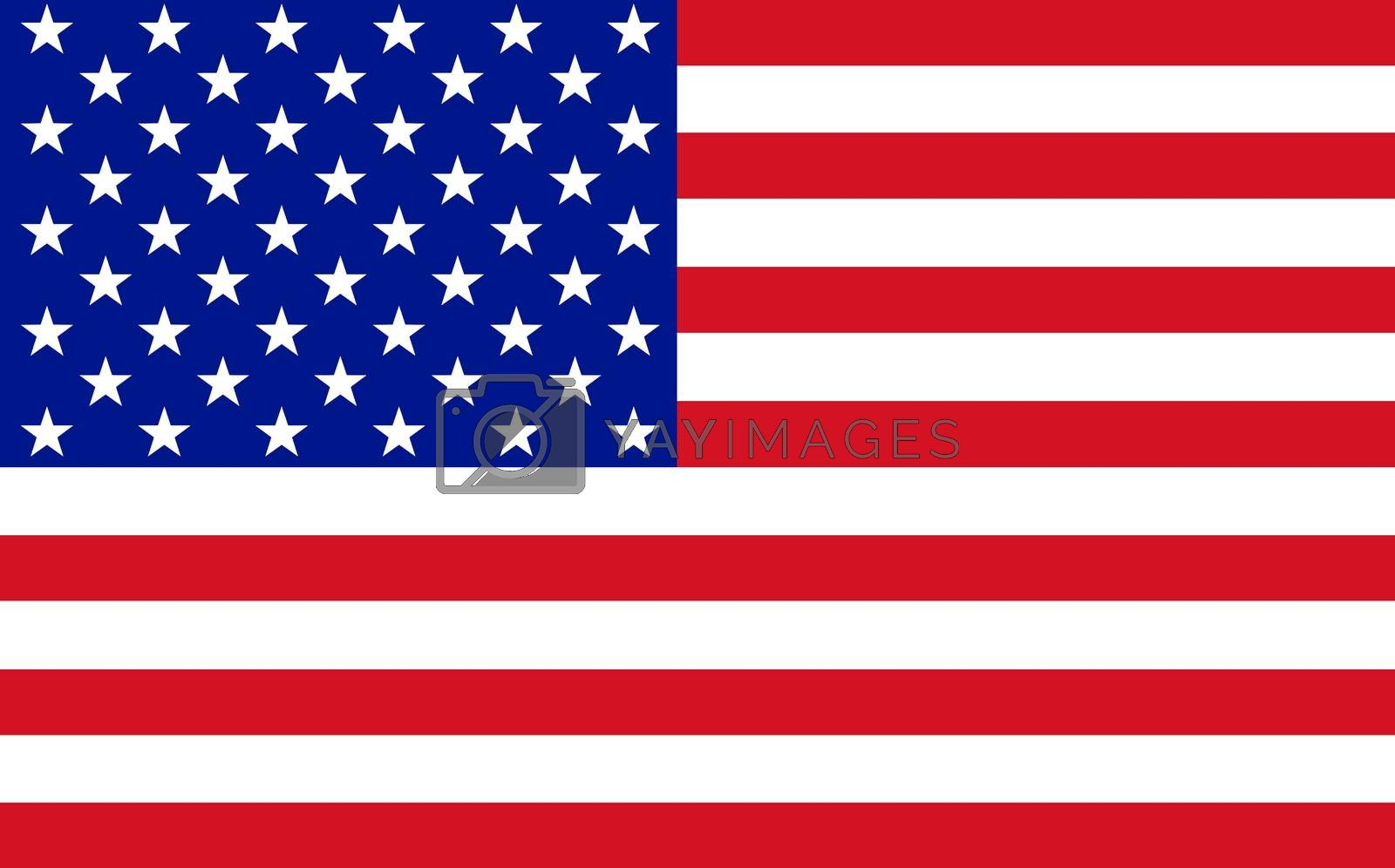 Official flag of USA nation