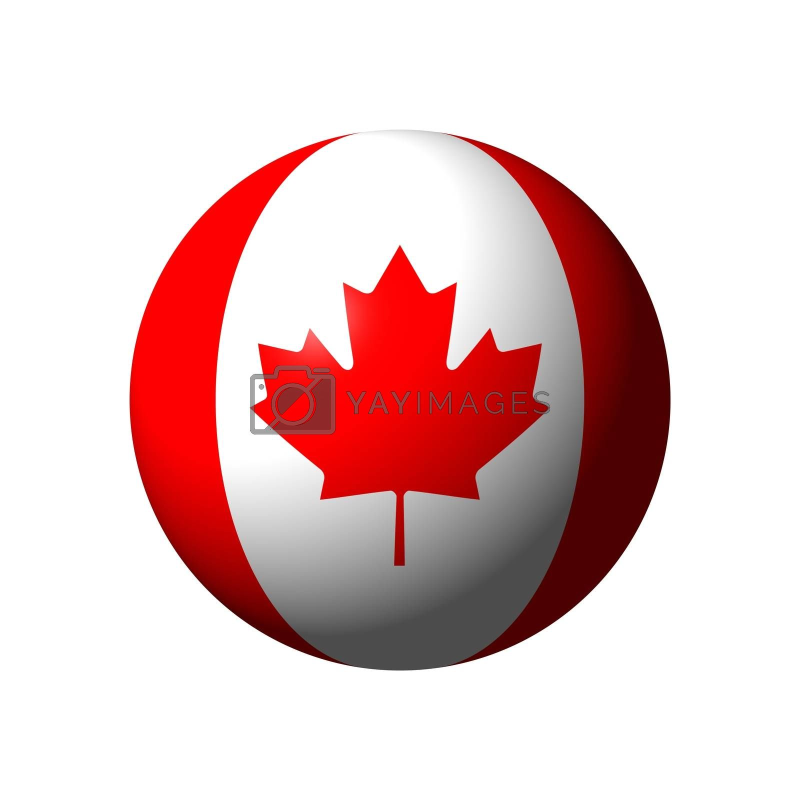 Sphere with flag of Canada nation