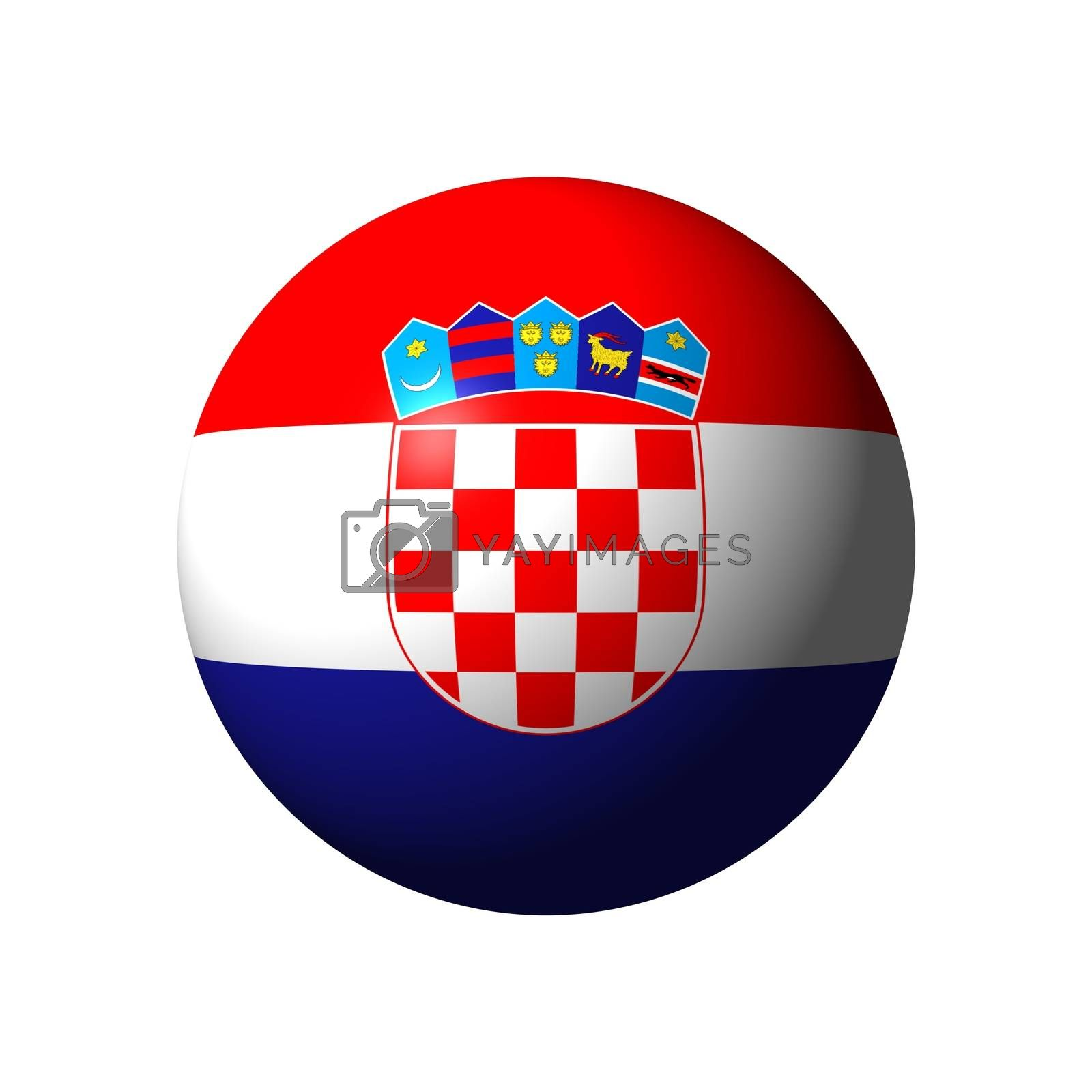 Sphere with flag of Croatia nation