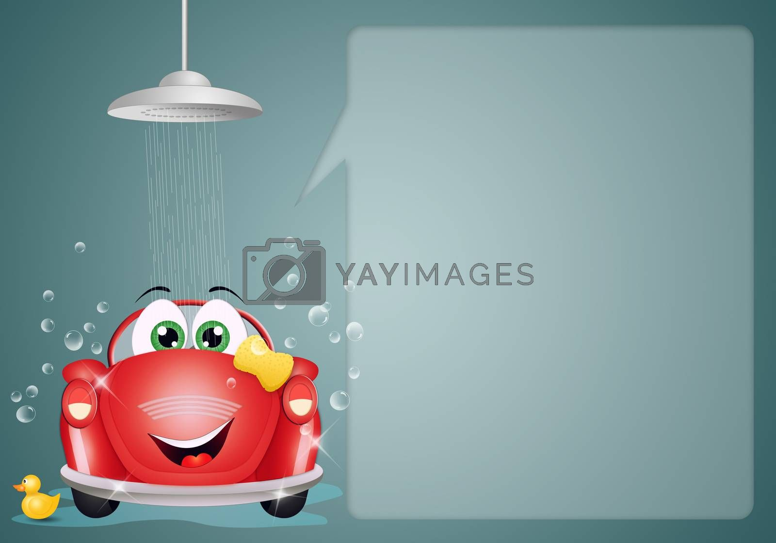 illustration of Car washing background