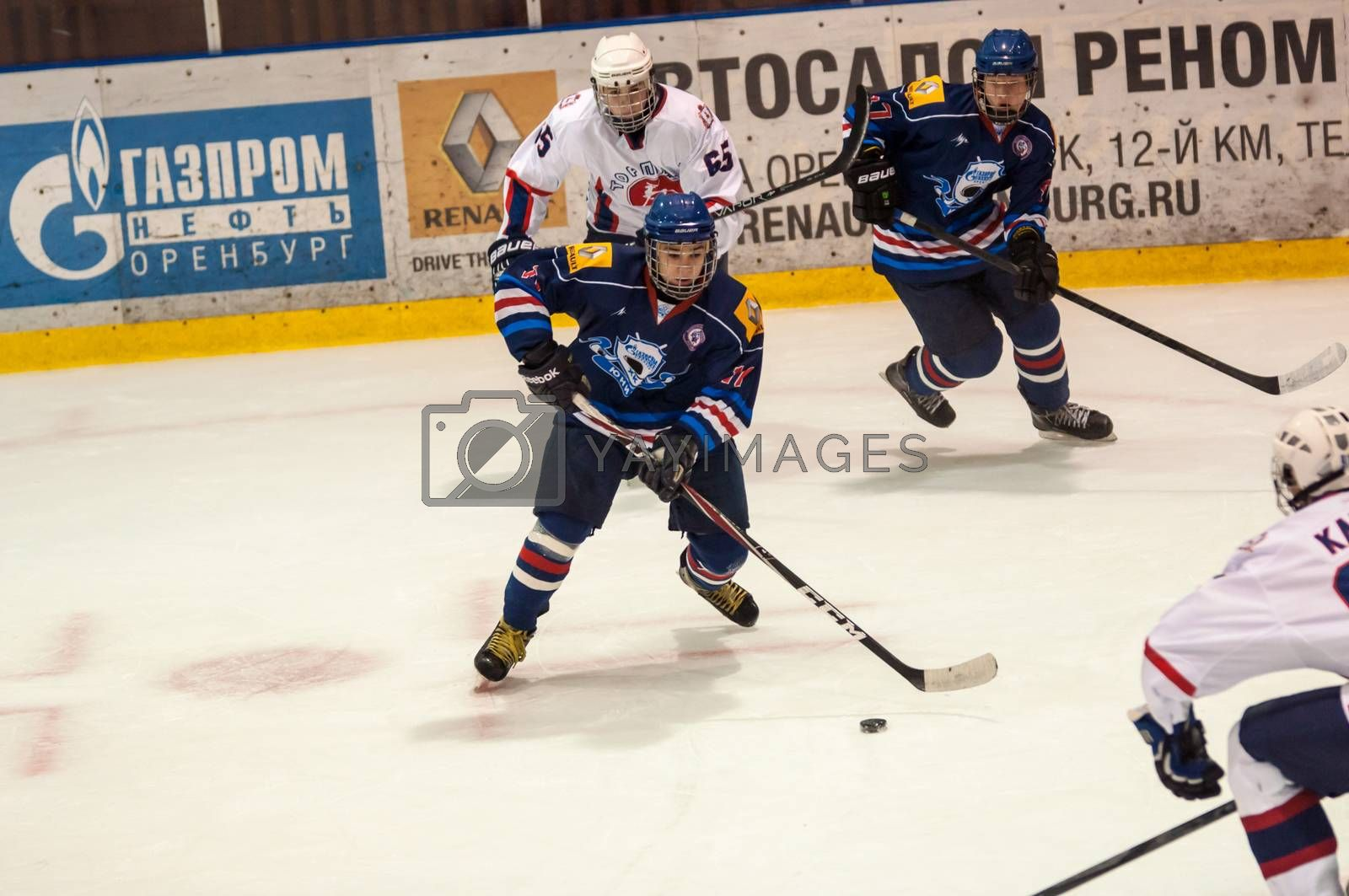 Royalty free image of Hockey with the puck,  by 0608195706081957