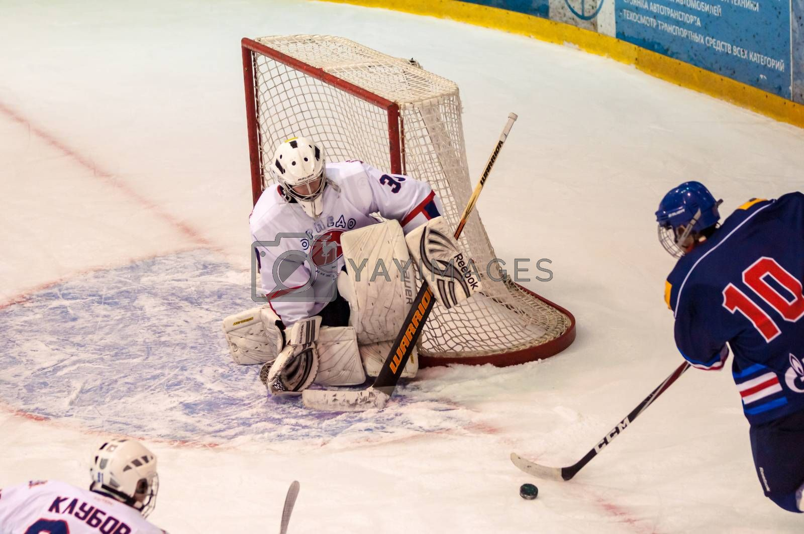 Royalty free image of Hockey with the puck.  by 0608195706081957