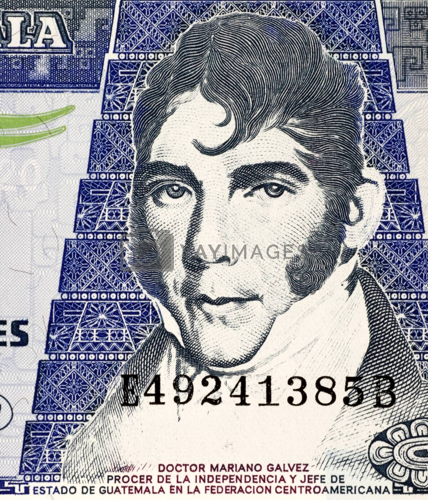 Mariano Galvez (1794-1862) on 20 Quetzales 2007 Banknote from Guatemala. Jurist and Liberal politician in Guatemala.
