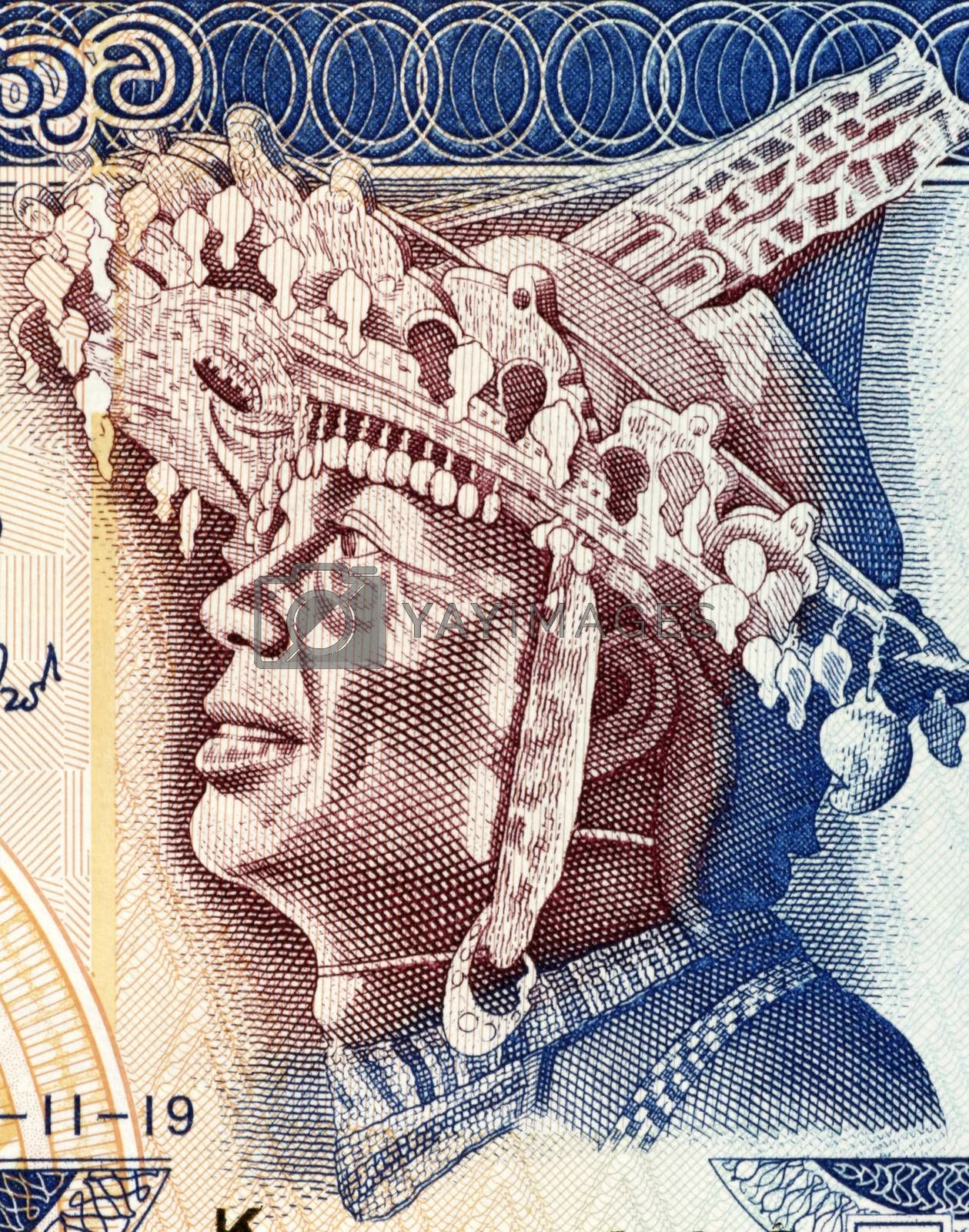 SriLankan Dancer with local Headdress by Georgios
