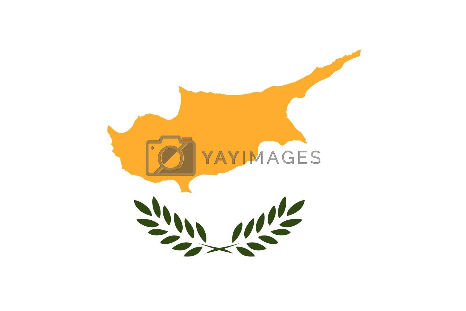 Official flag of Cyprus nation