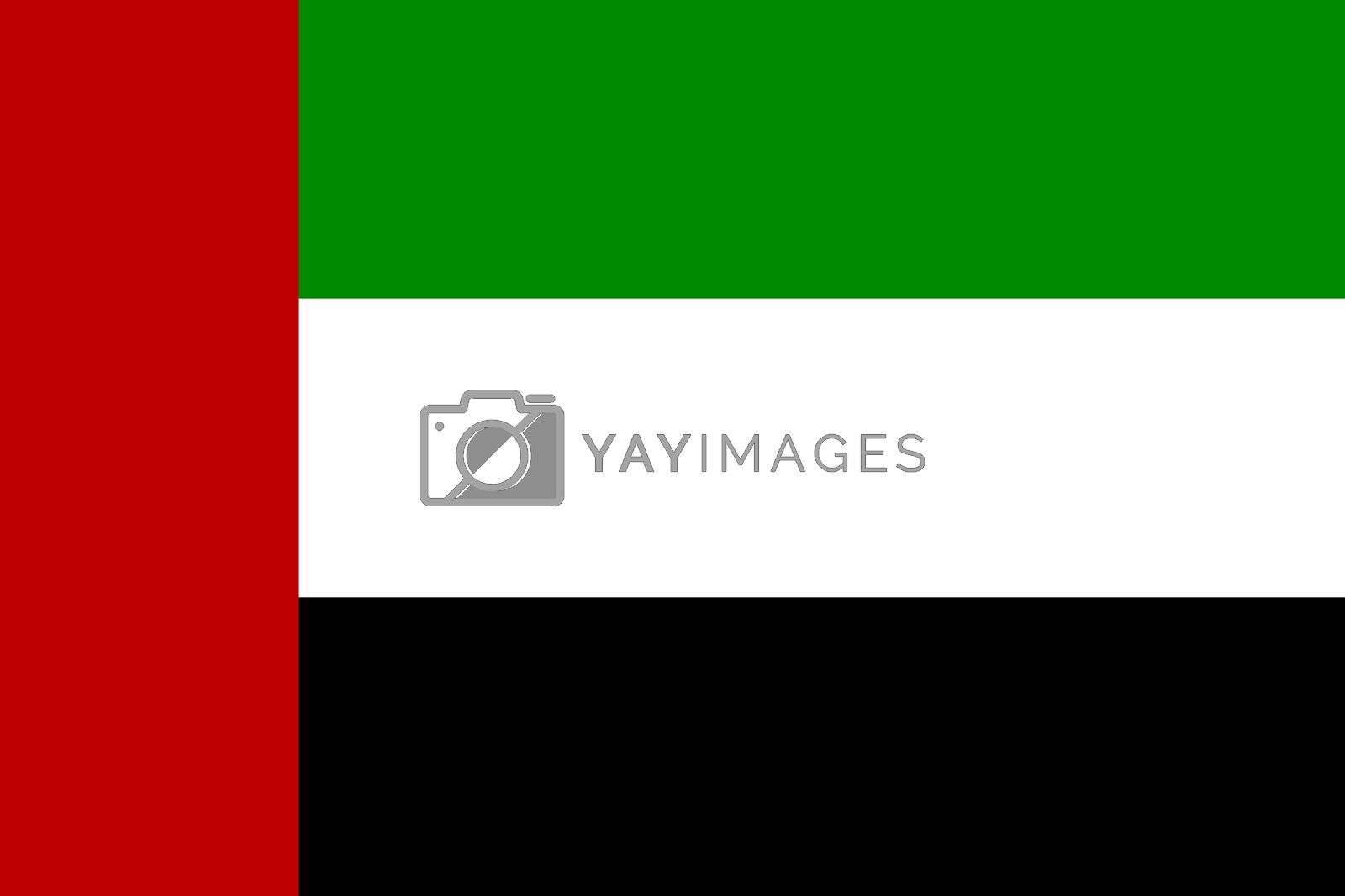Official flag of United Arab Emirates