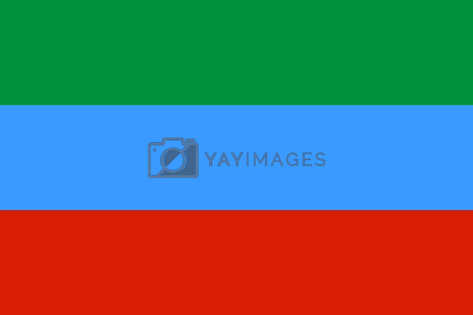 Official flag of Dagestan Republic