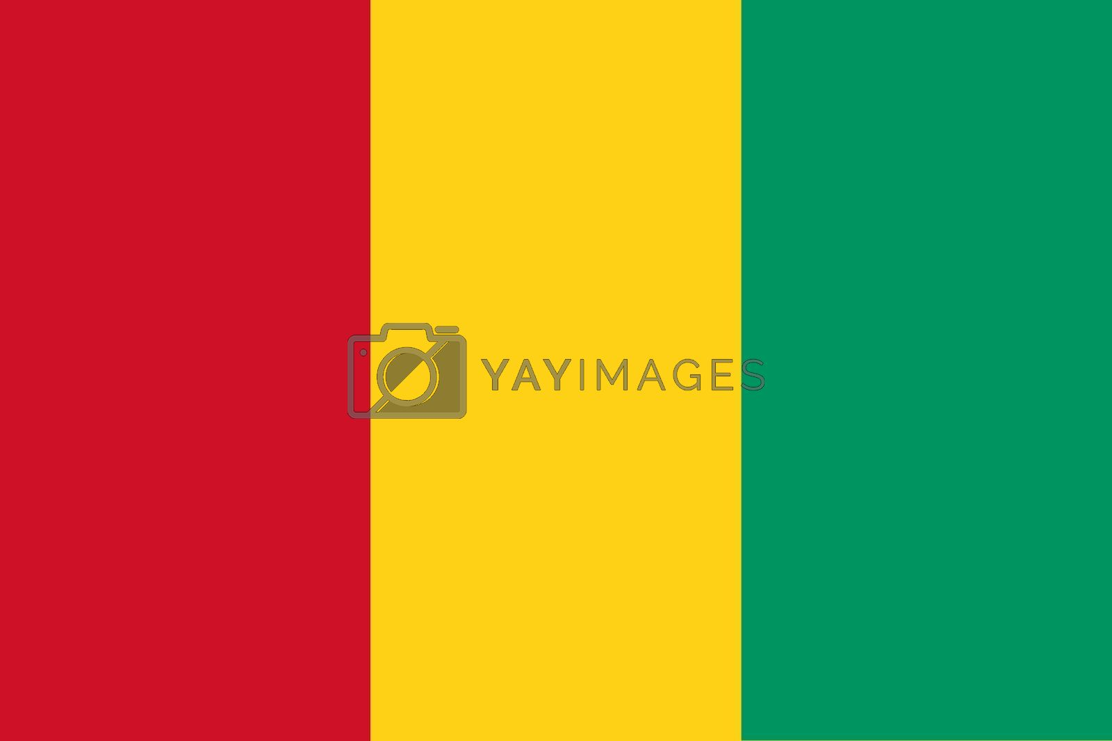 Official flag of Guinea nation