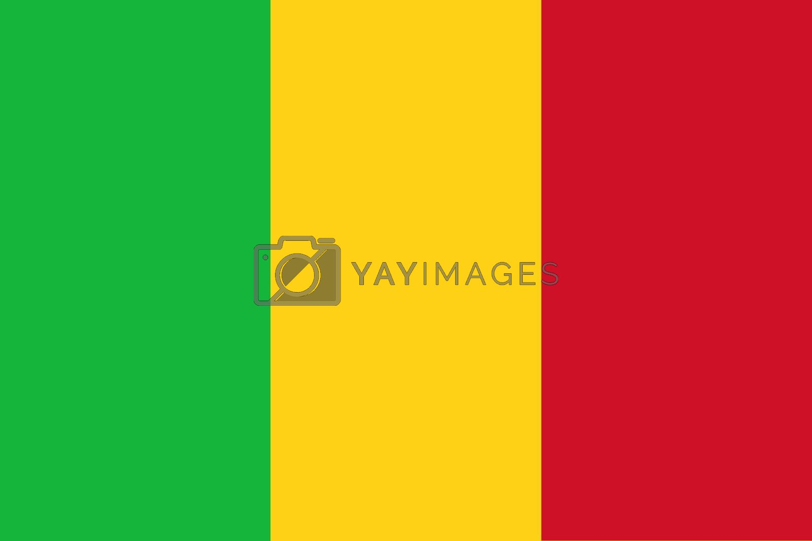 Official flag of Mali nation