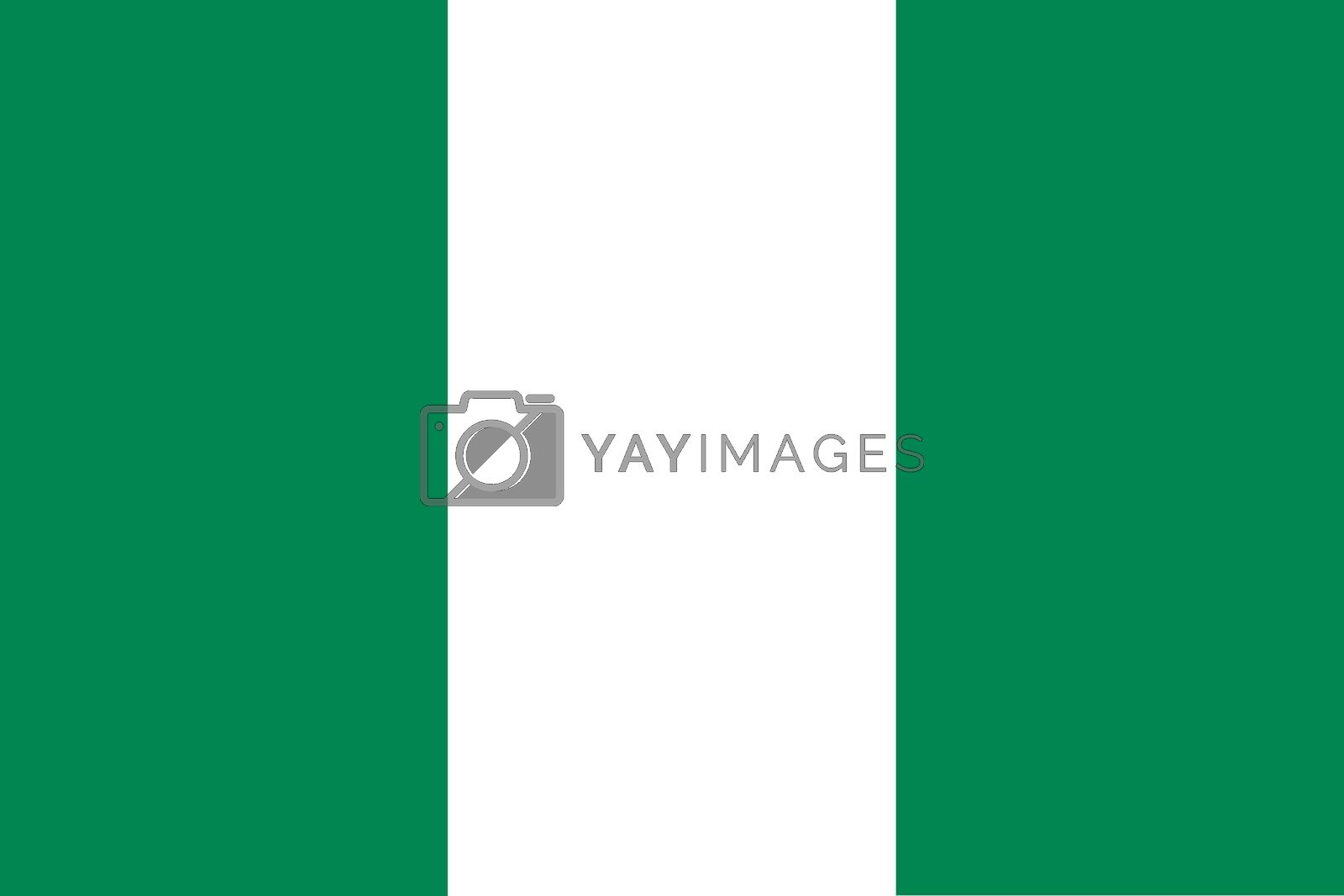 Official flag of Nigeria nation