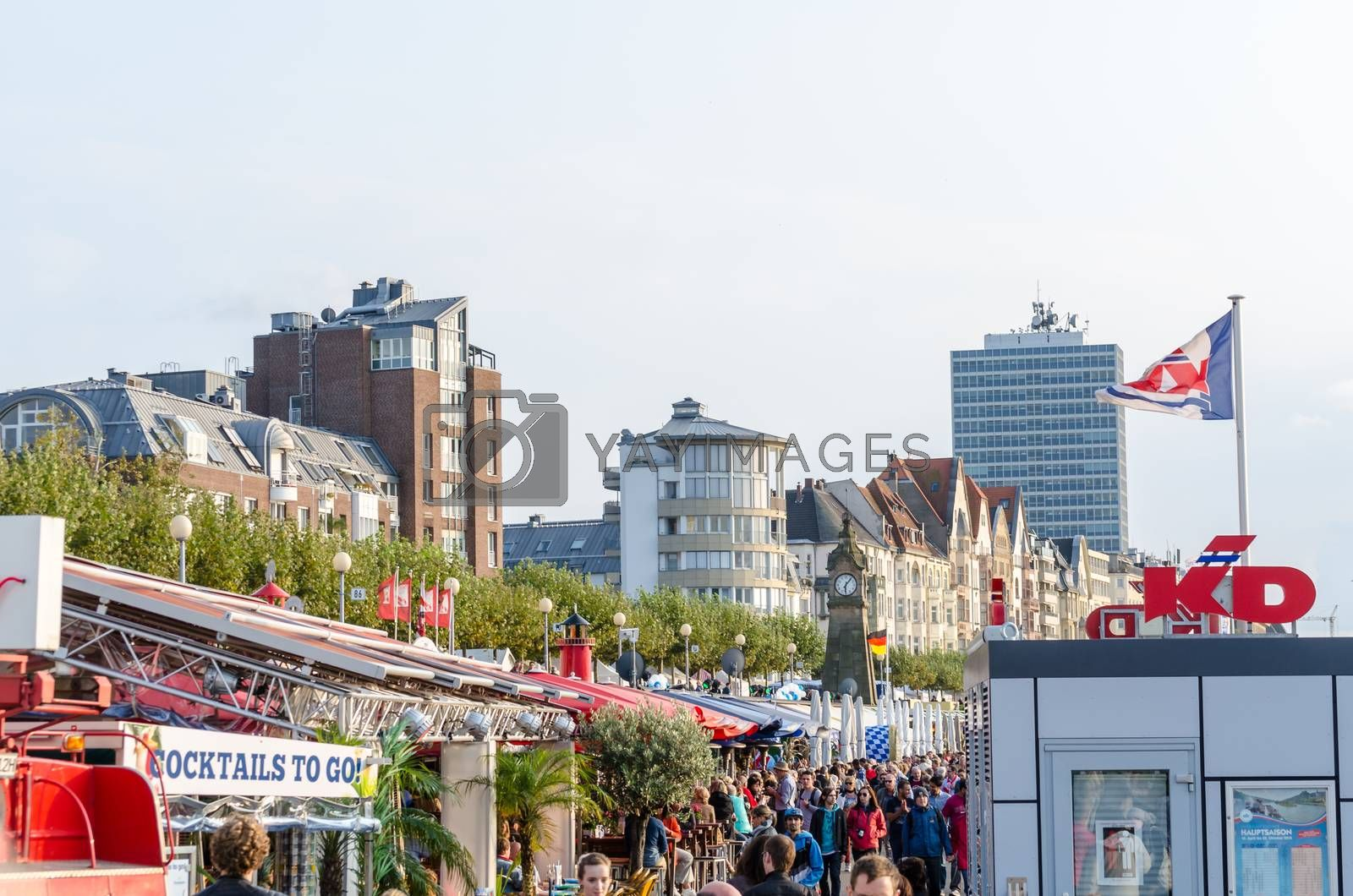 Royalty free image of Düsseldorf Atlstadt.Die shore promenade by JFsPic