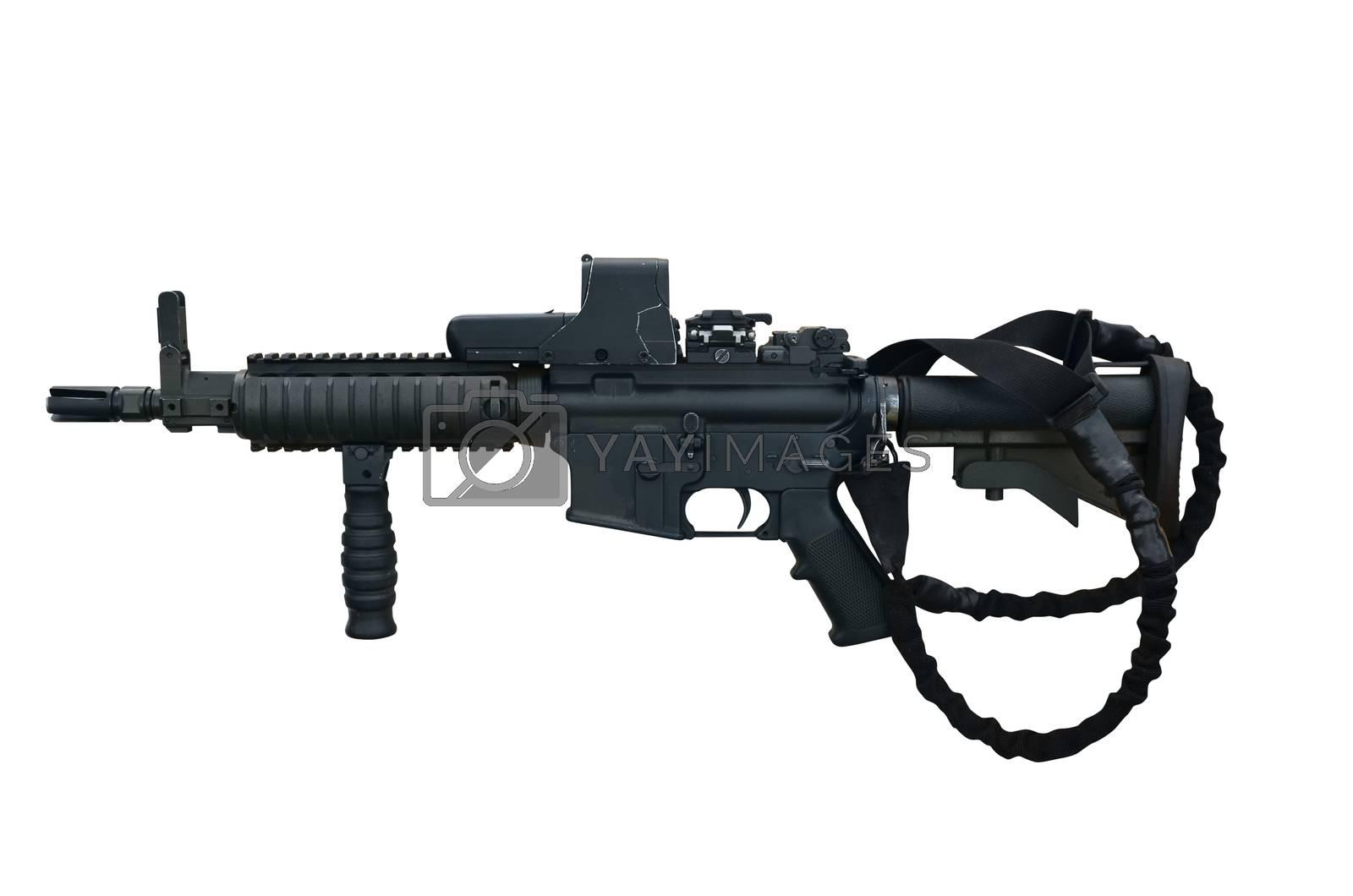 Royalty free image of Machine gun C8 CQB by Vectorex