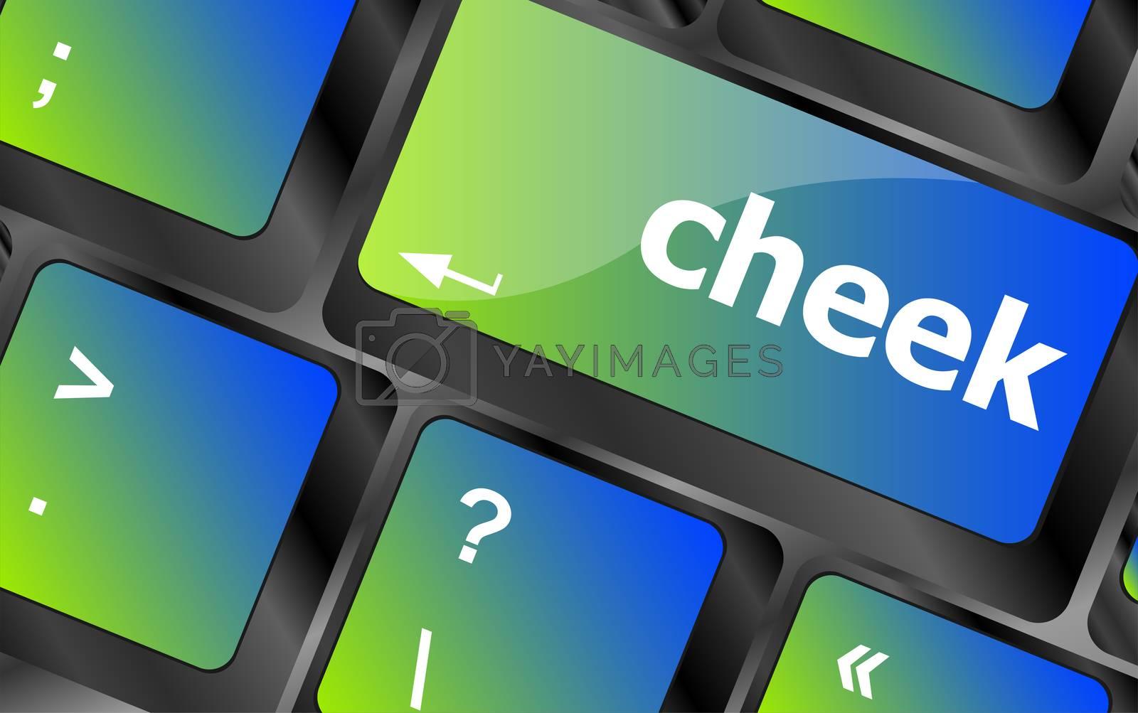cheek button on computer pc keyboard key
