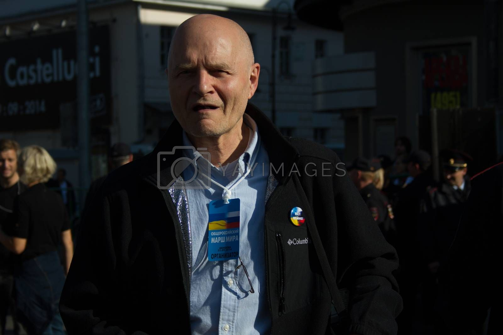 Royalty free image of Co-organizer March of peace Michael Schneider by olegkozyrev