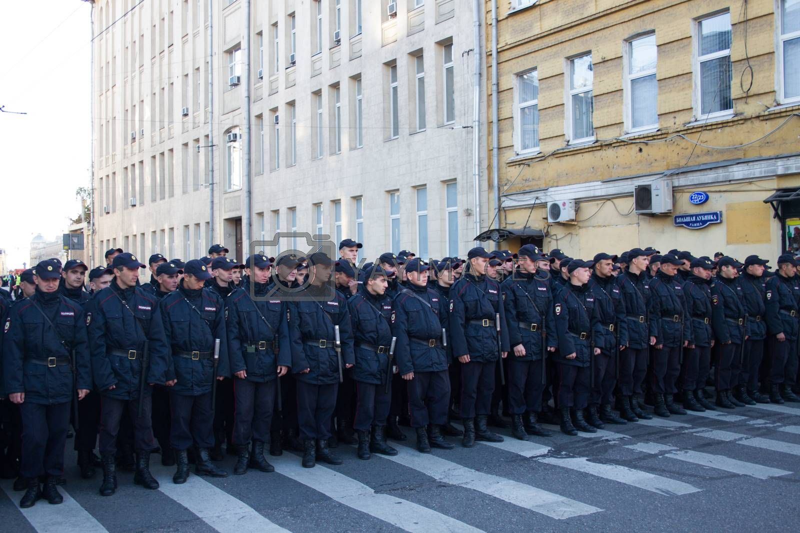 Royalty free image of The police, March for peace by olegkozyrev