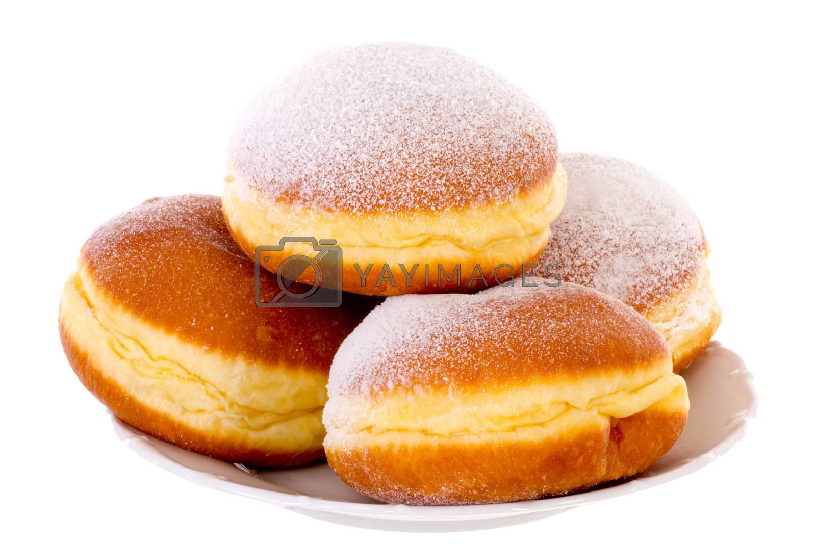 Royalty free image of Krapfen Berliner Pfannkuchen Bismarck Donuts by gwolters