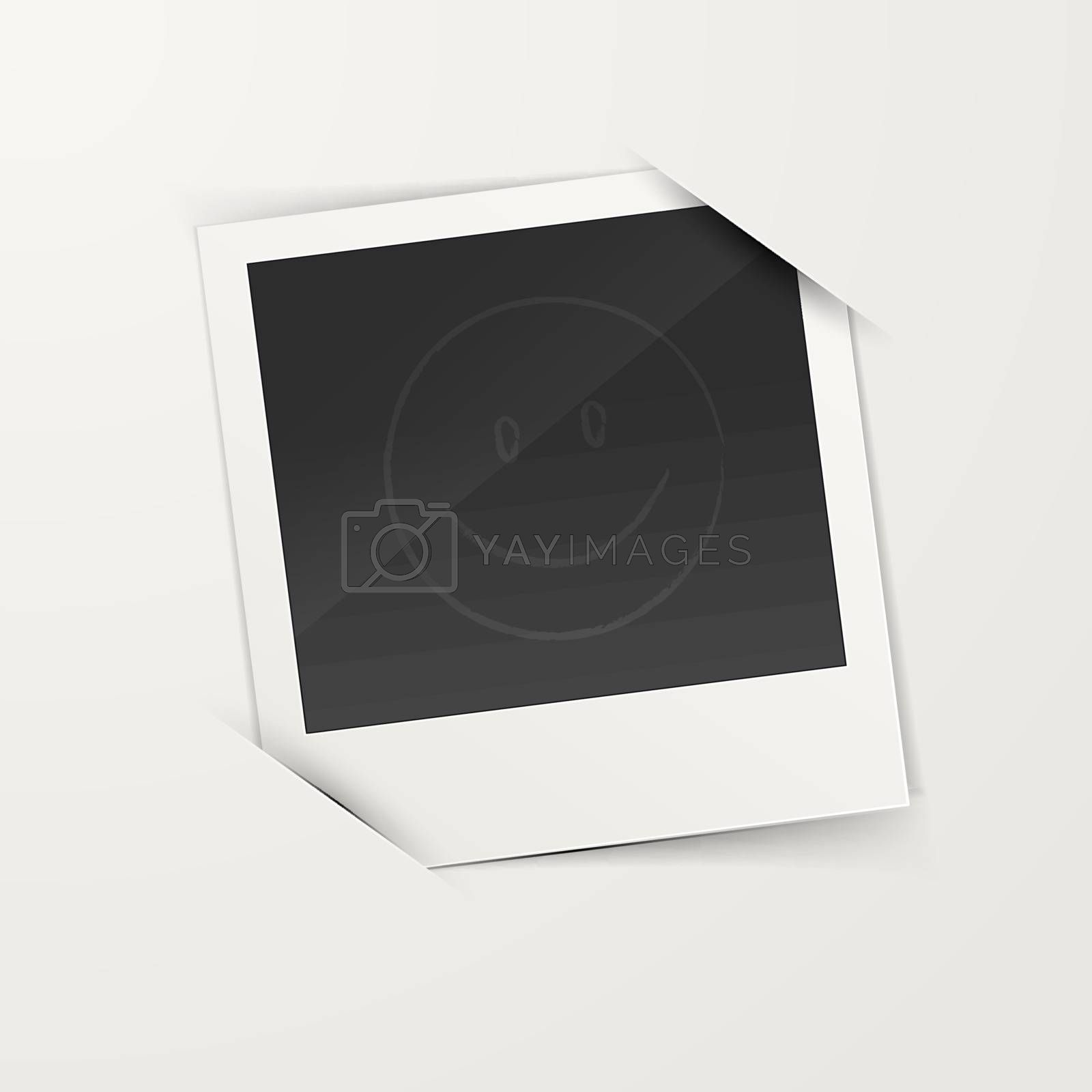 Vector illustration of Empty photo frame
