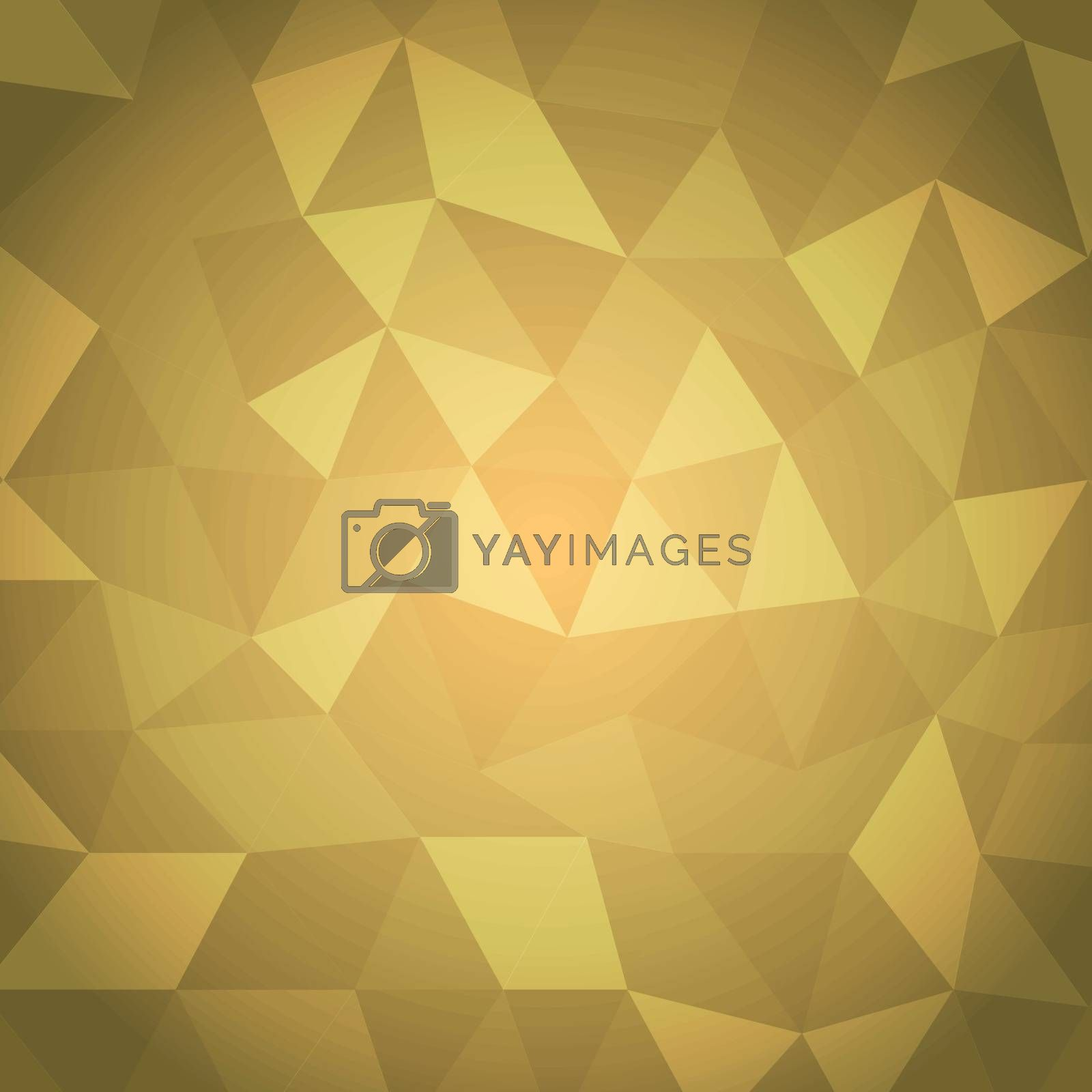 Abstract triangle with yellow background, stock vector