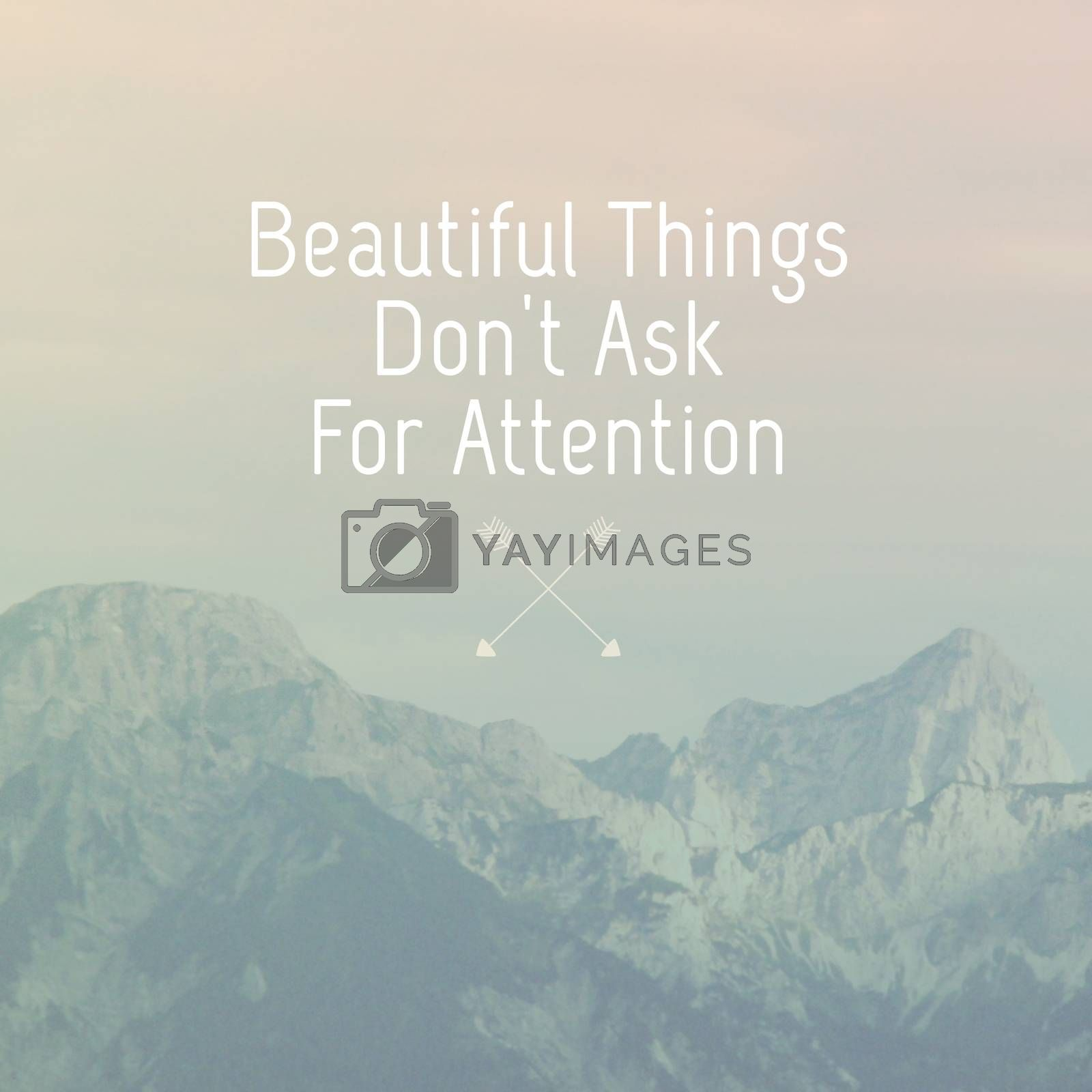 Inspirational motivation quote on natural landscape background