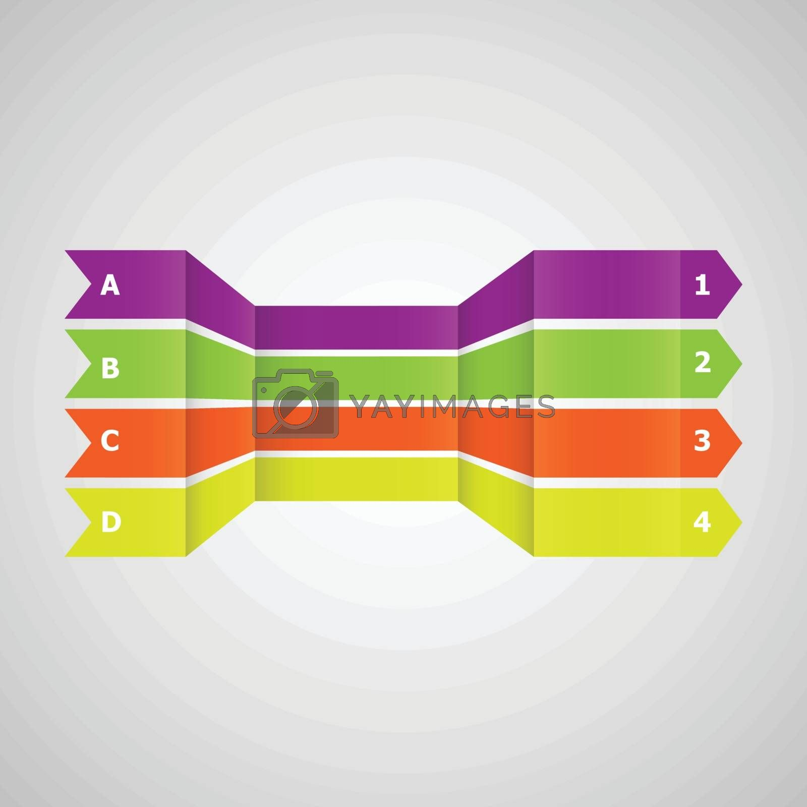 Horizontal colorful  lines in perspective, stock vector