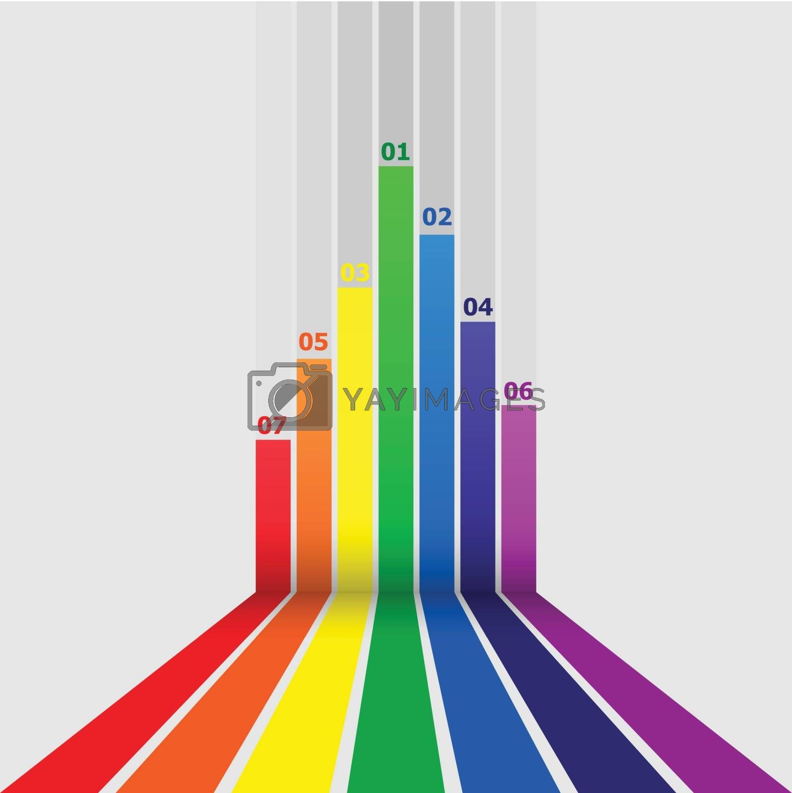 Abstract design element with colorful lines, stock vector