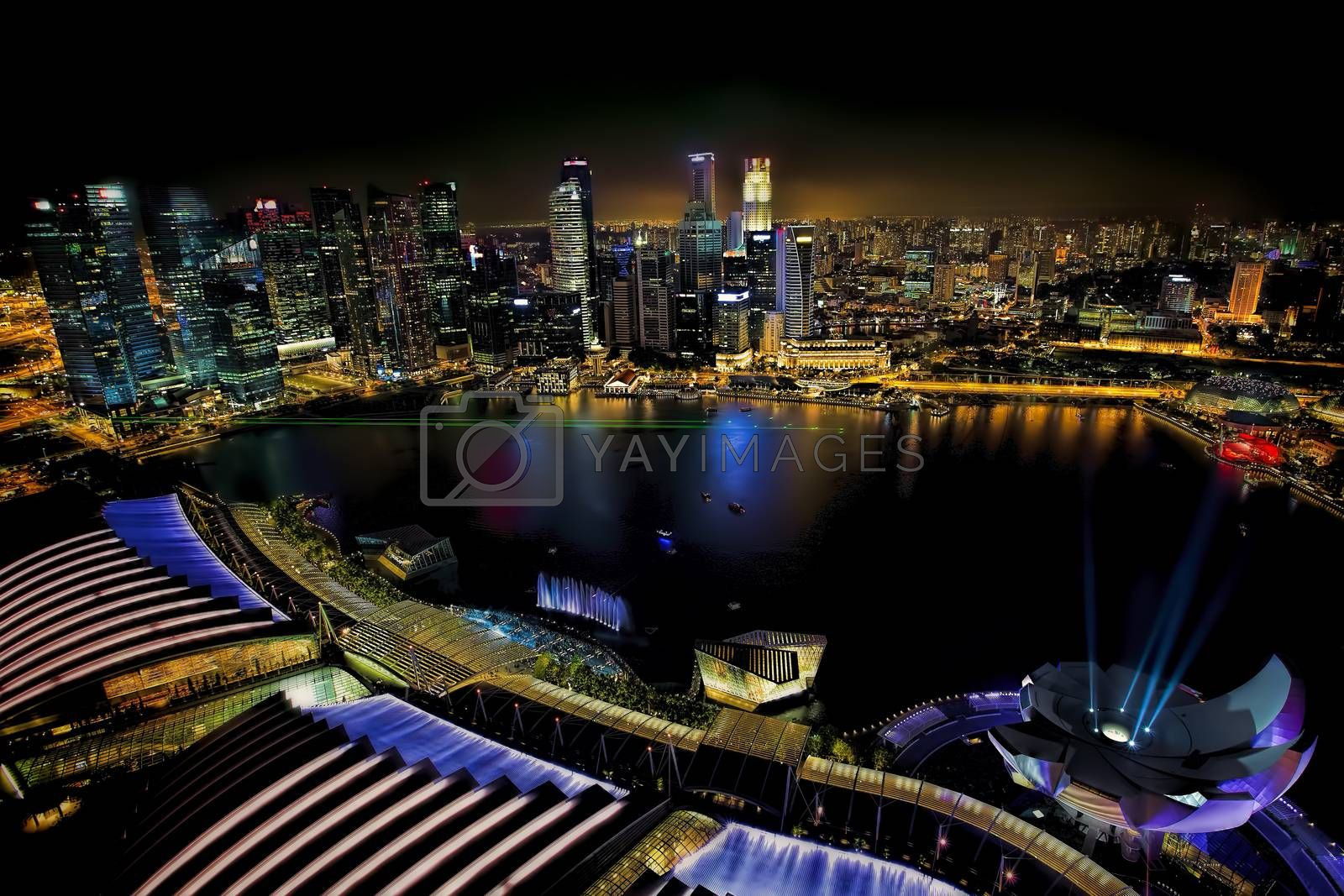 Royalty free image of Singapore Skyline by kjorgen