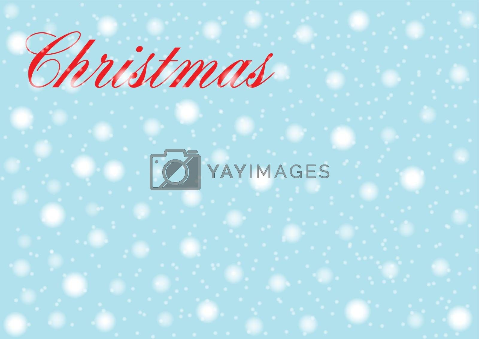 Christmas text against a falling snow background
