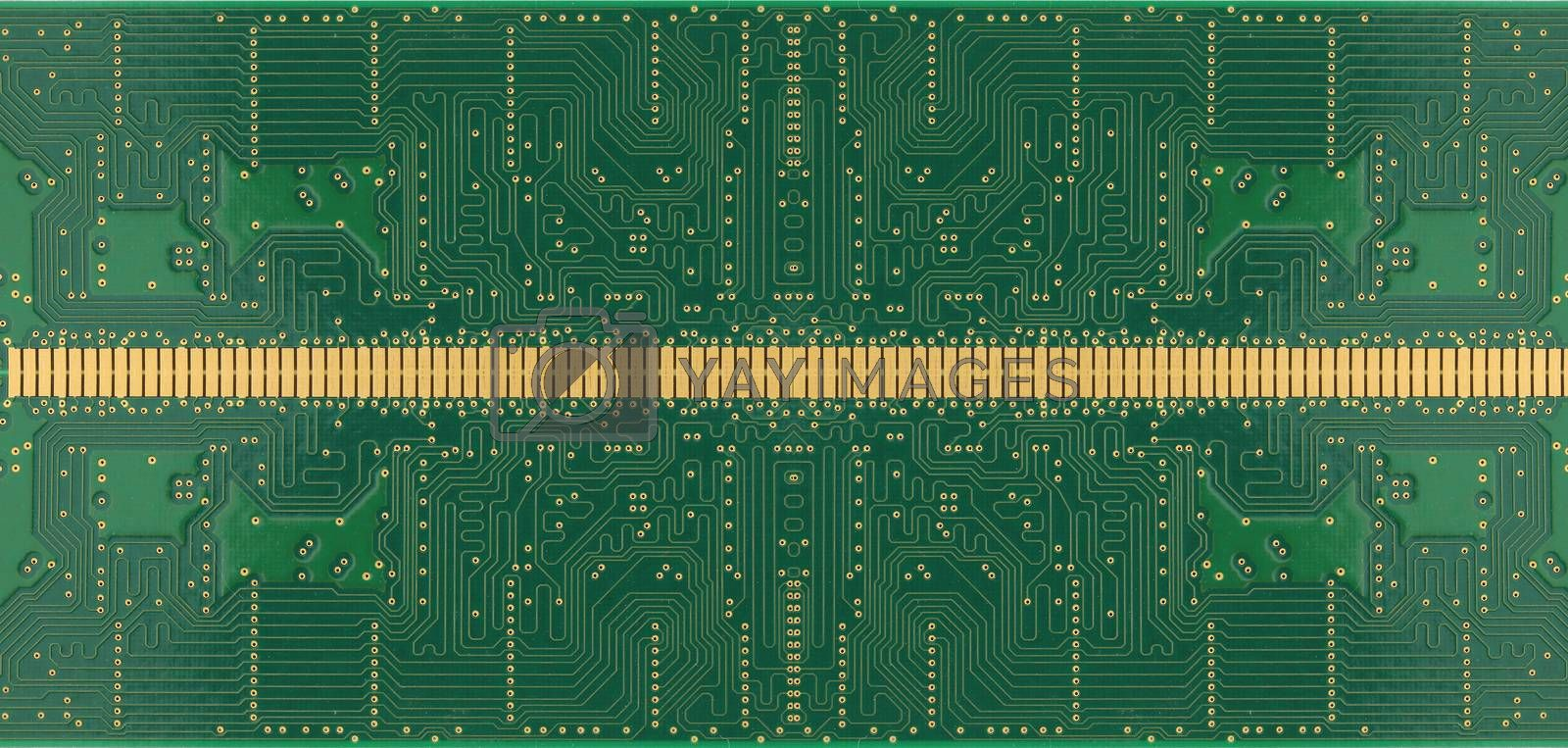 Green of electronic circuit board for the technology background.