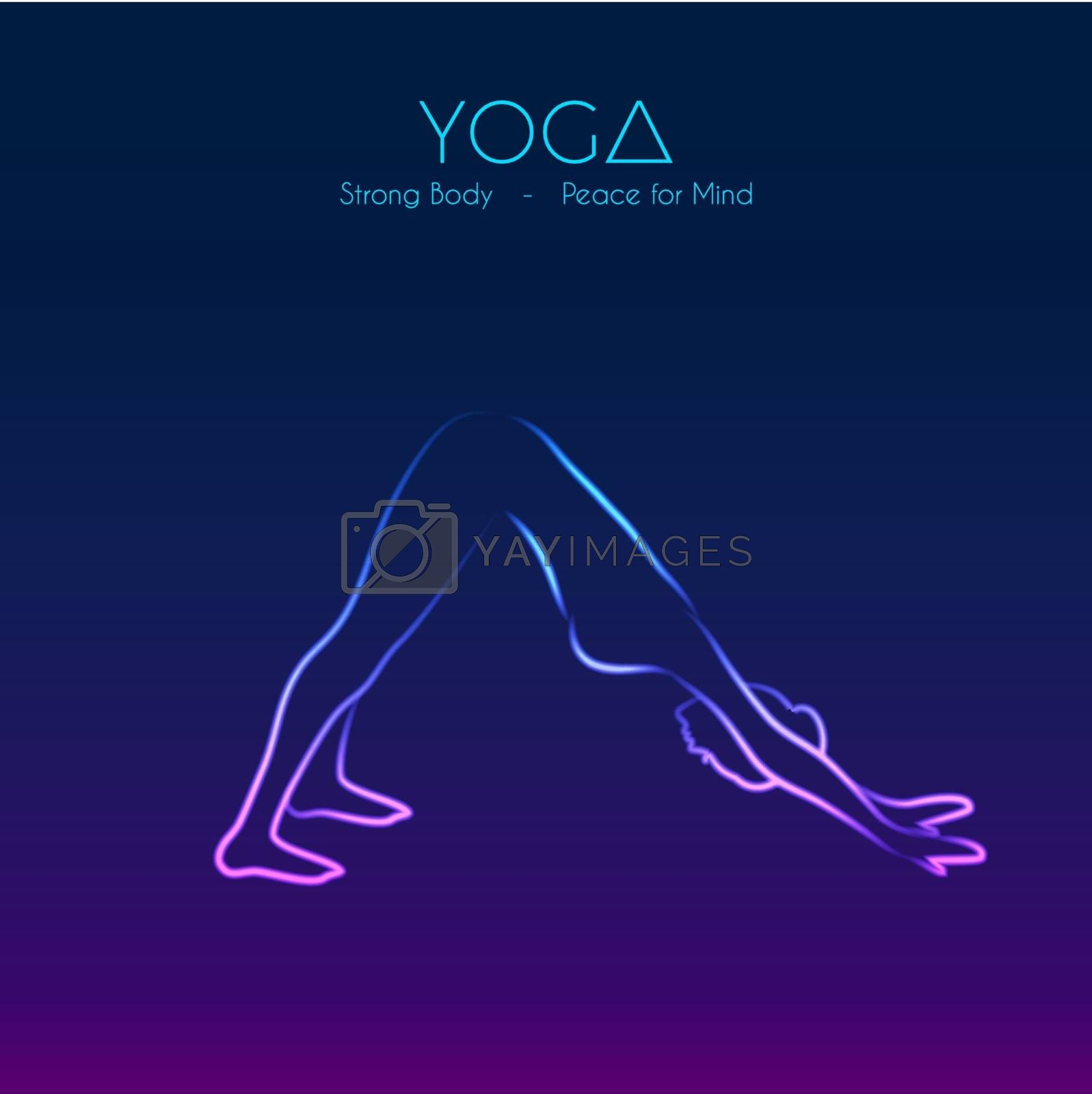 Vector illustration of Yoga pose woman's silhouette