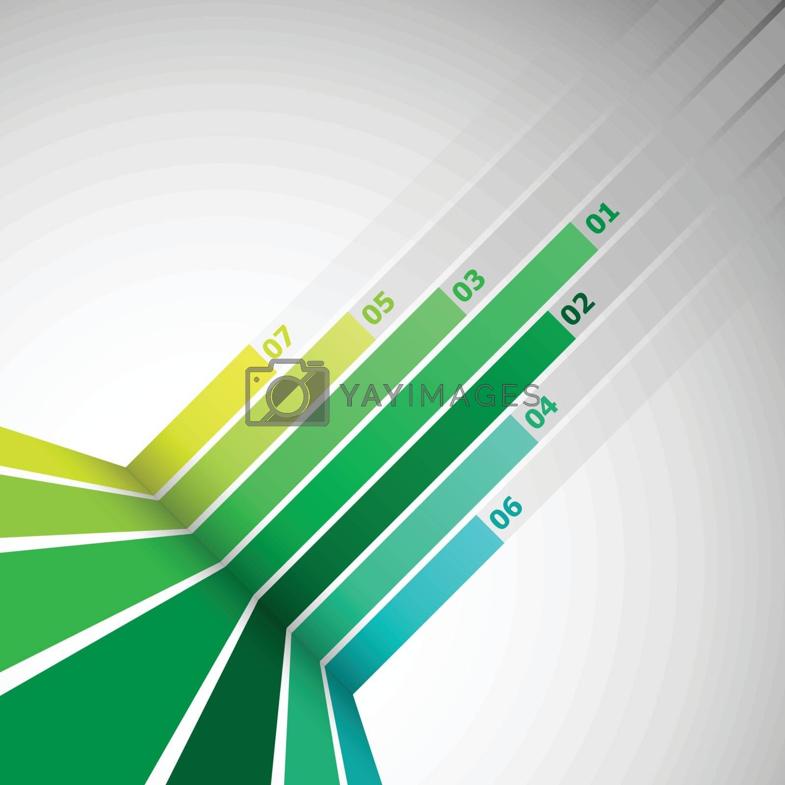 Abstract design element with green lines, stock vector