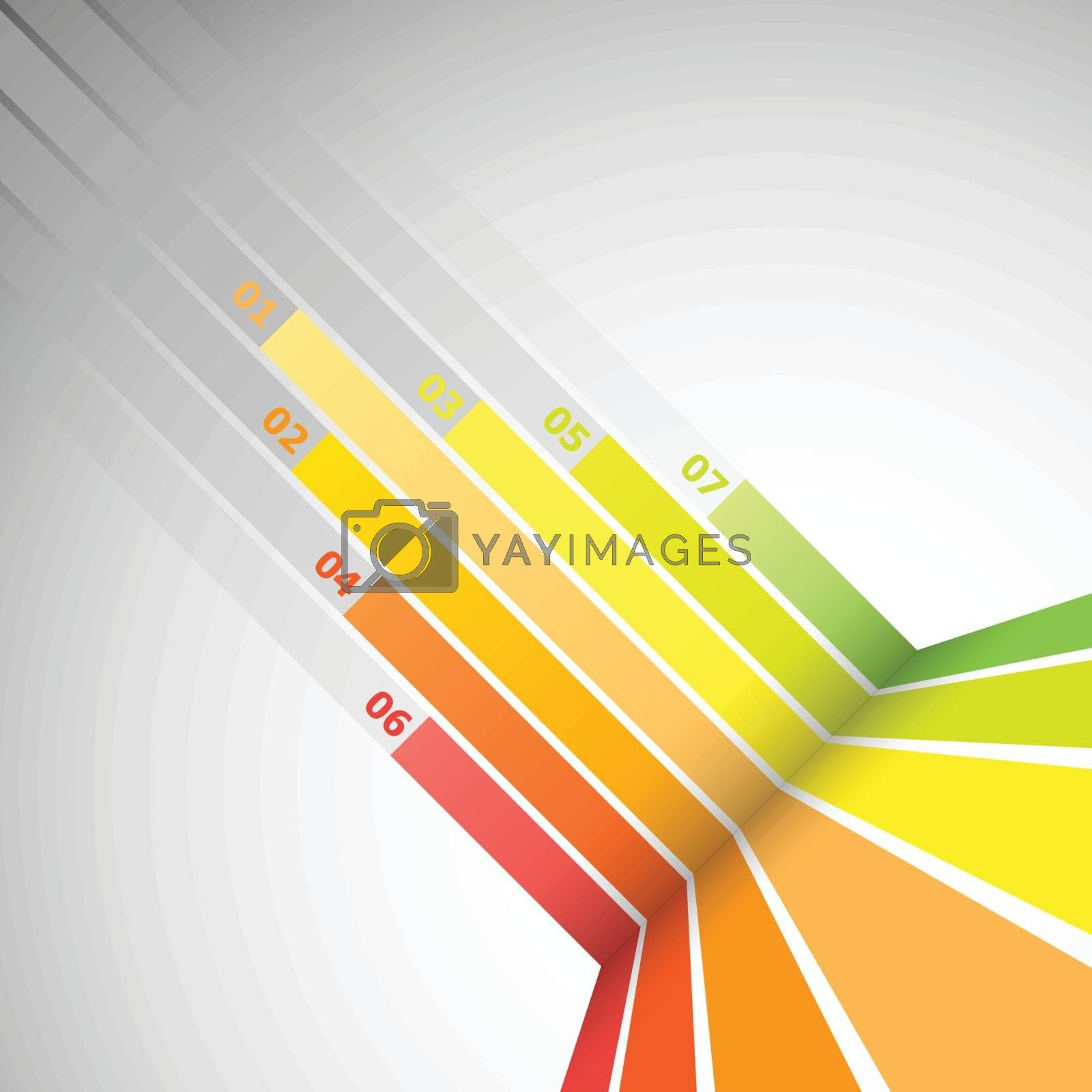 Abstract design banner with colorful lines, stock vector
