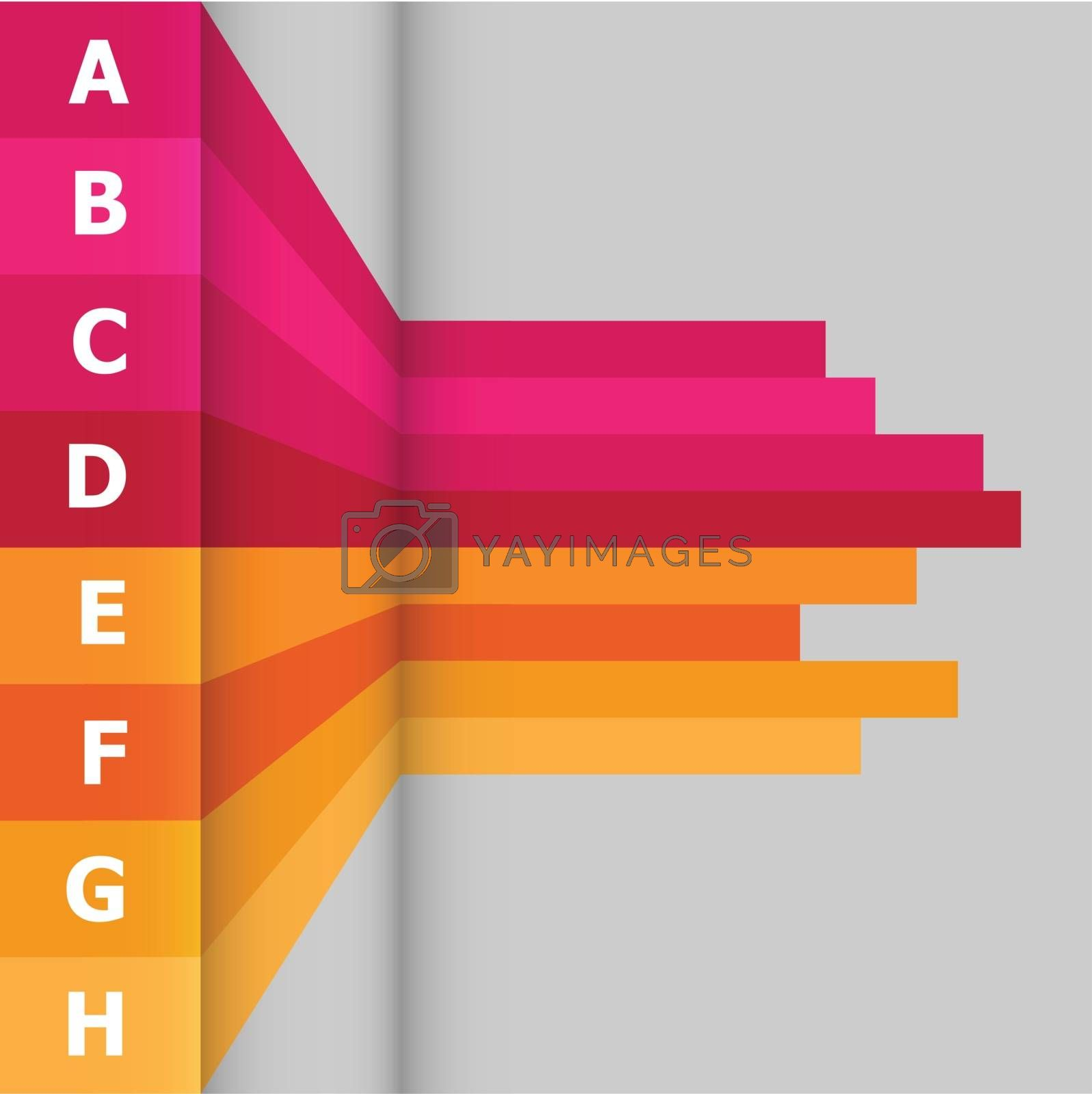 Horizontal banner with colorful lines, stock vector