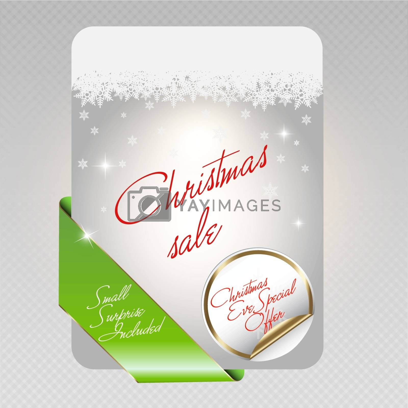 Vector illustration of Christmas sale cards