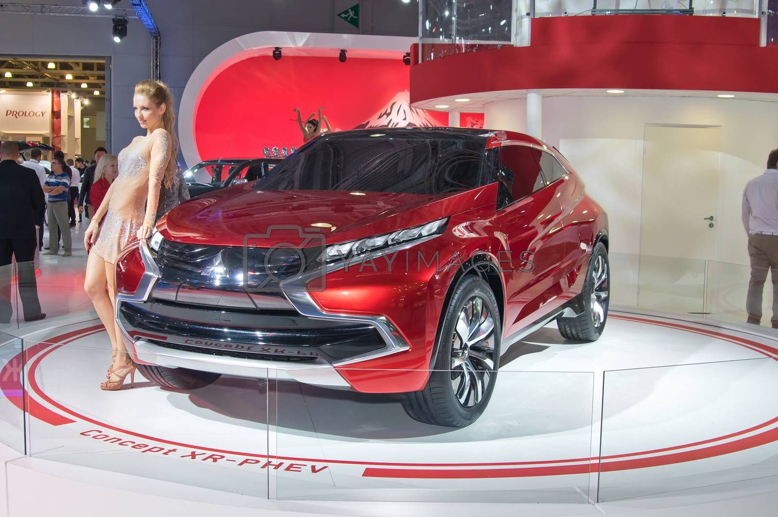 MOSCOW-SEPTEMBER 2: Mitsubishi Concept XR-PHEV  at the Moscow International Automobile Salon on September 2, 2014 in Moscow, Russia