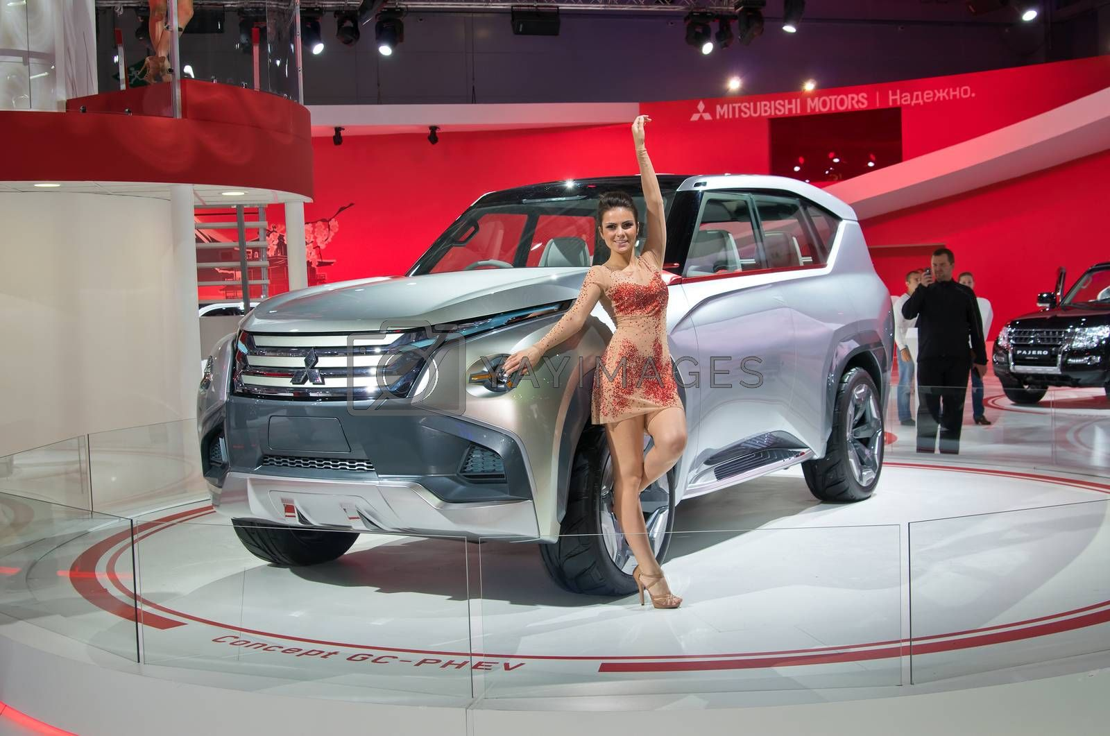 MOSCOW-SEPTEMBER 2: Mitsubishi Concept GC-PHEV concept at the Moscow International Automobile Salon on September 2, 2014 in Moscow, Russia