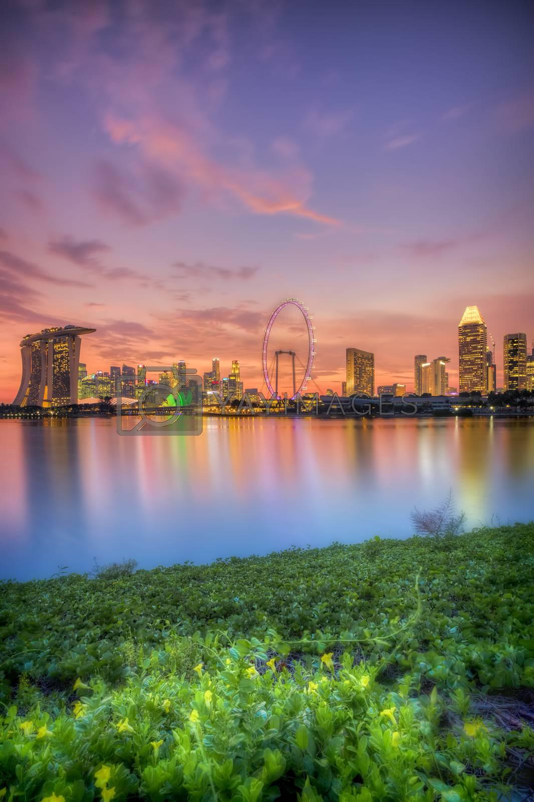Royalty free image of Singapore Skyline at sunset by kjorgen