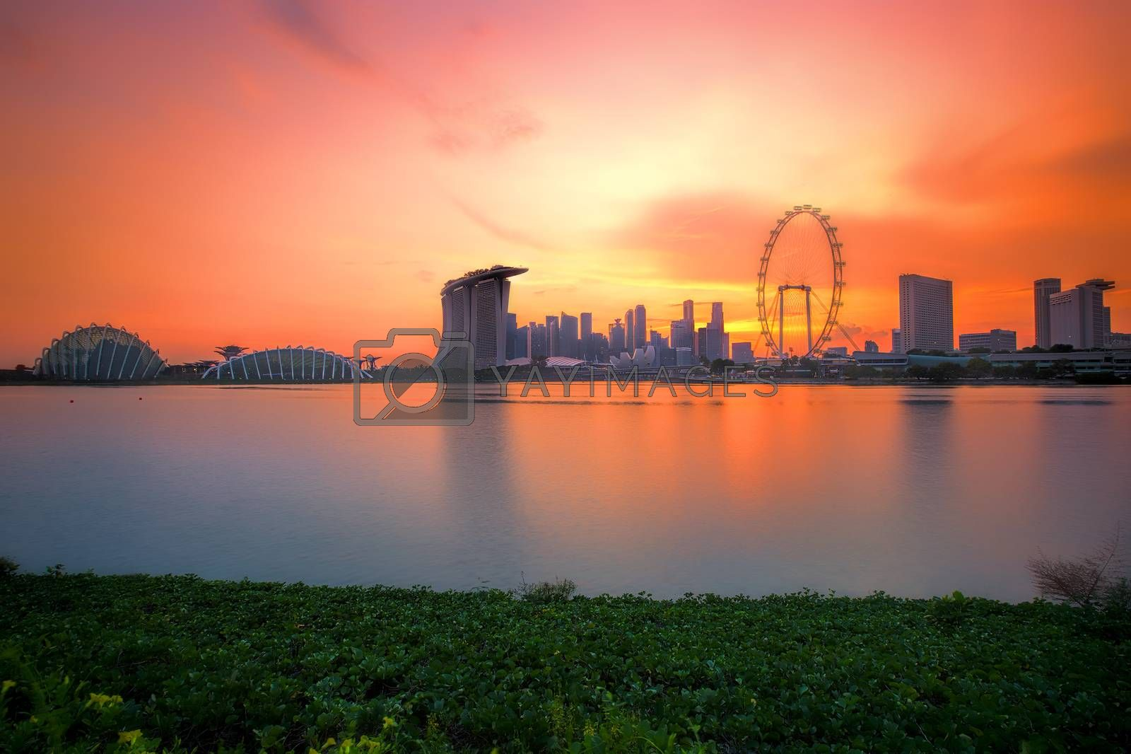 Royalty free image of Singapore Skyline at sunset by kjorgen