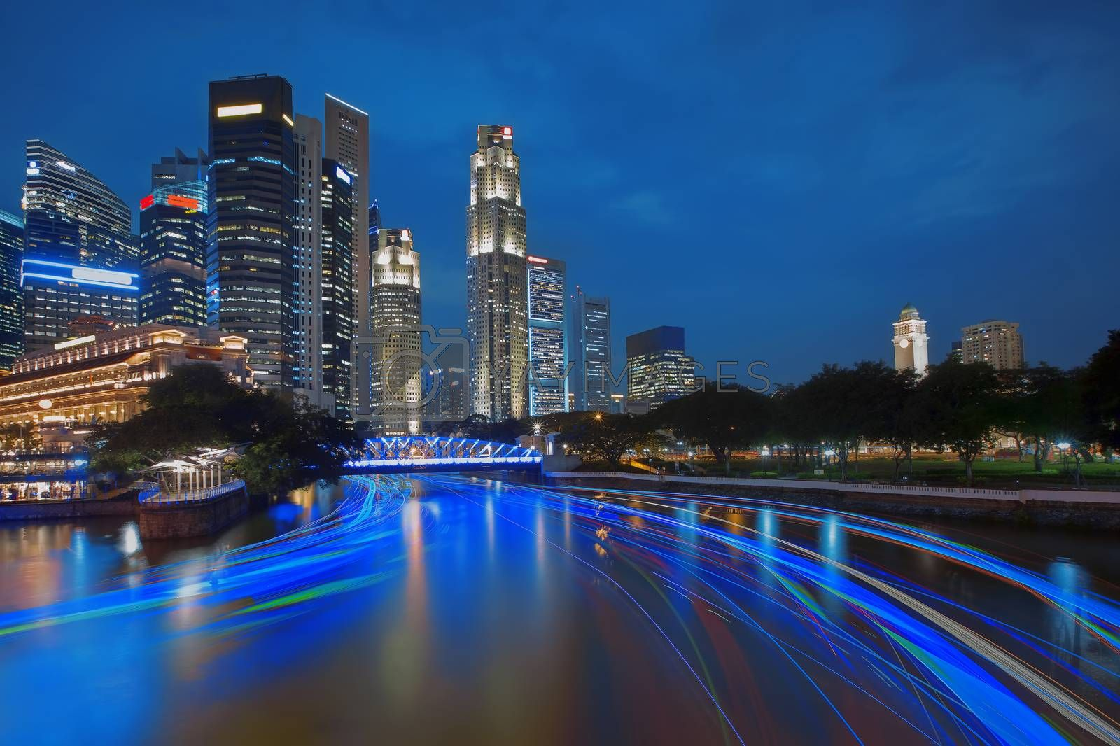 Royalty free image of Singapore River Cruise by kjorgen