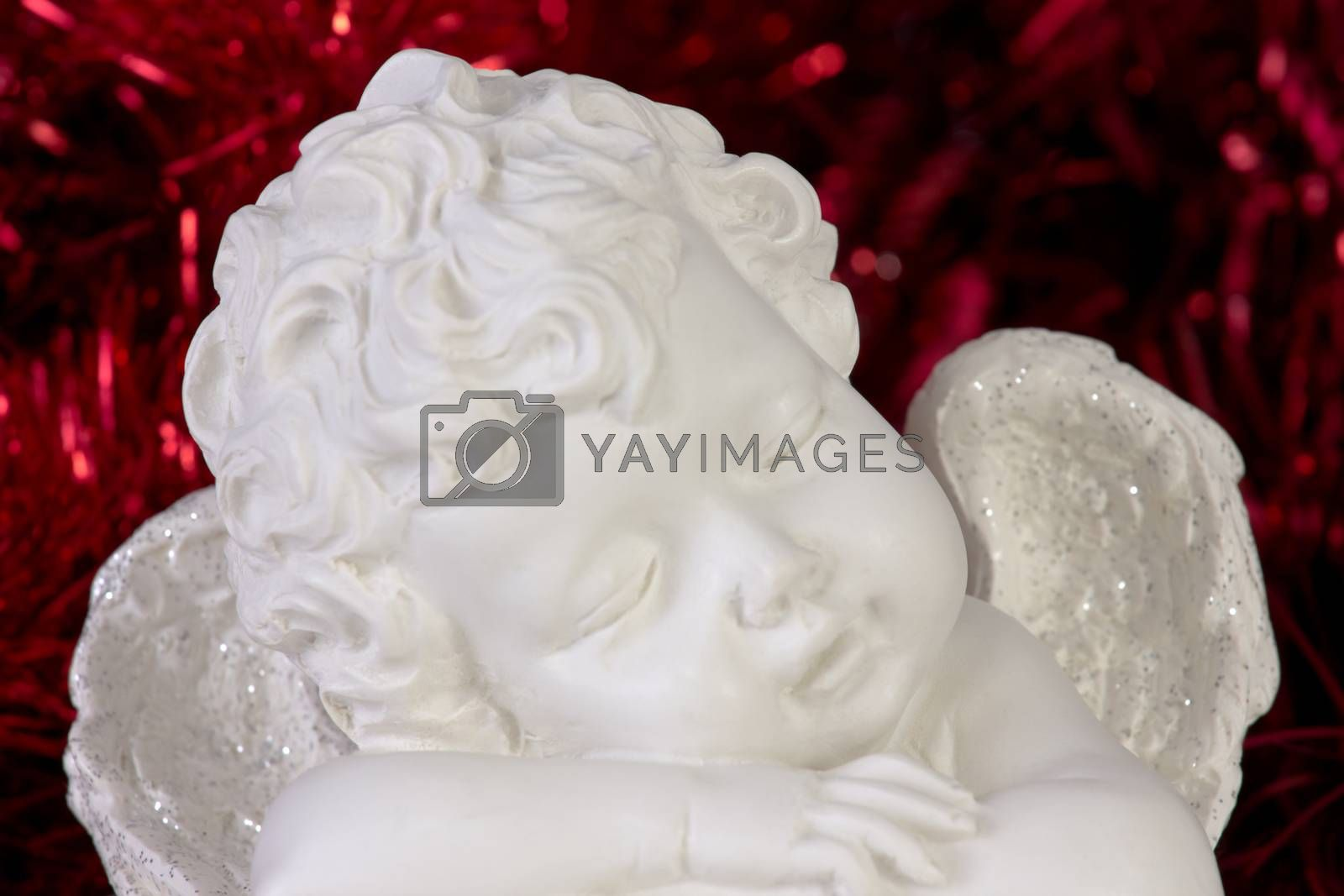 Royalty free image of Sleeping christmas angel by gwolters