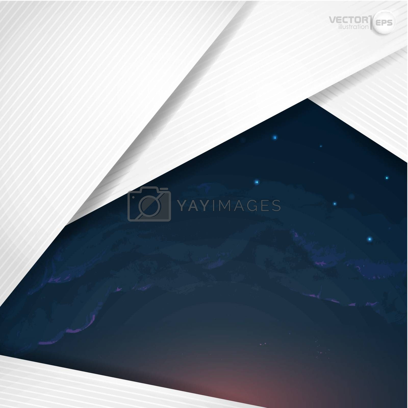 Abstract Background With White Paper Layers. Vector Illustration. Eps 10.