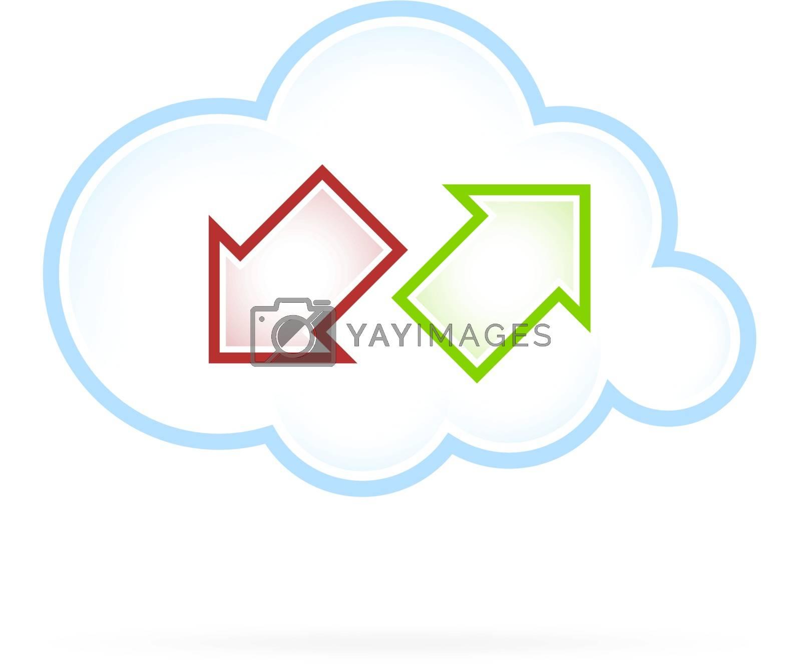 Cloud Computing Icon Communication isolated on white