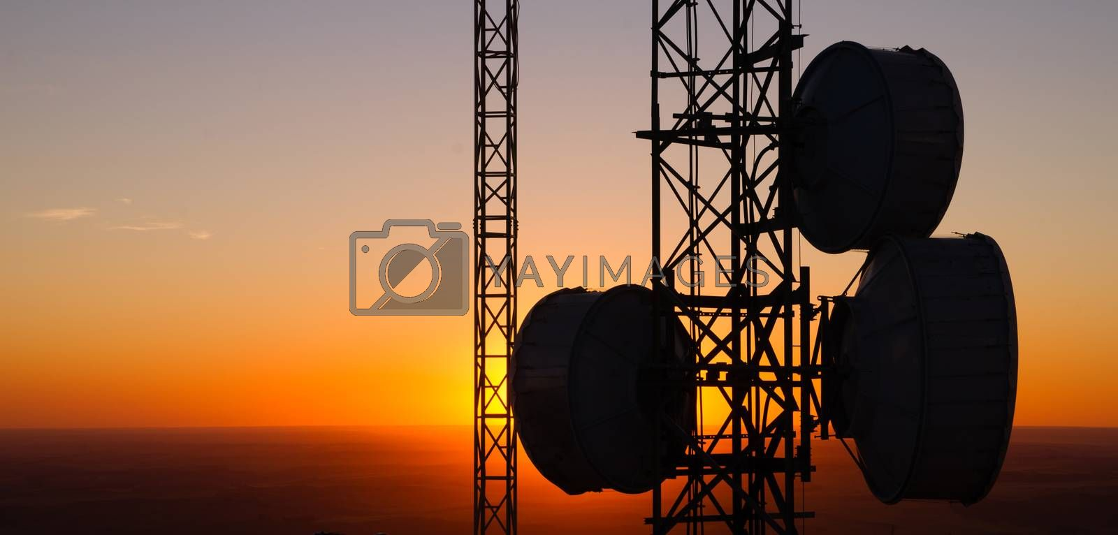 This Cellular Tower is situated high off the ground in Eastern Washington