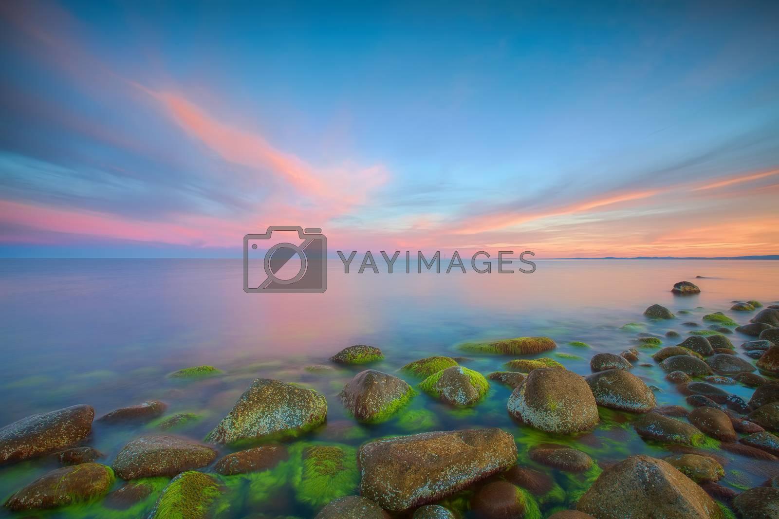 Royalty free image of Sunset at Moelen by kjorgen