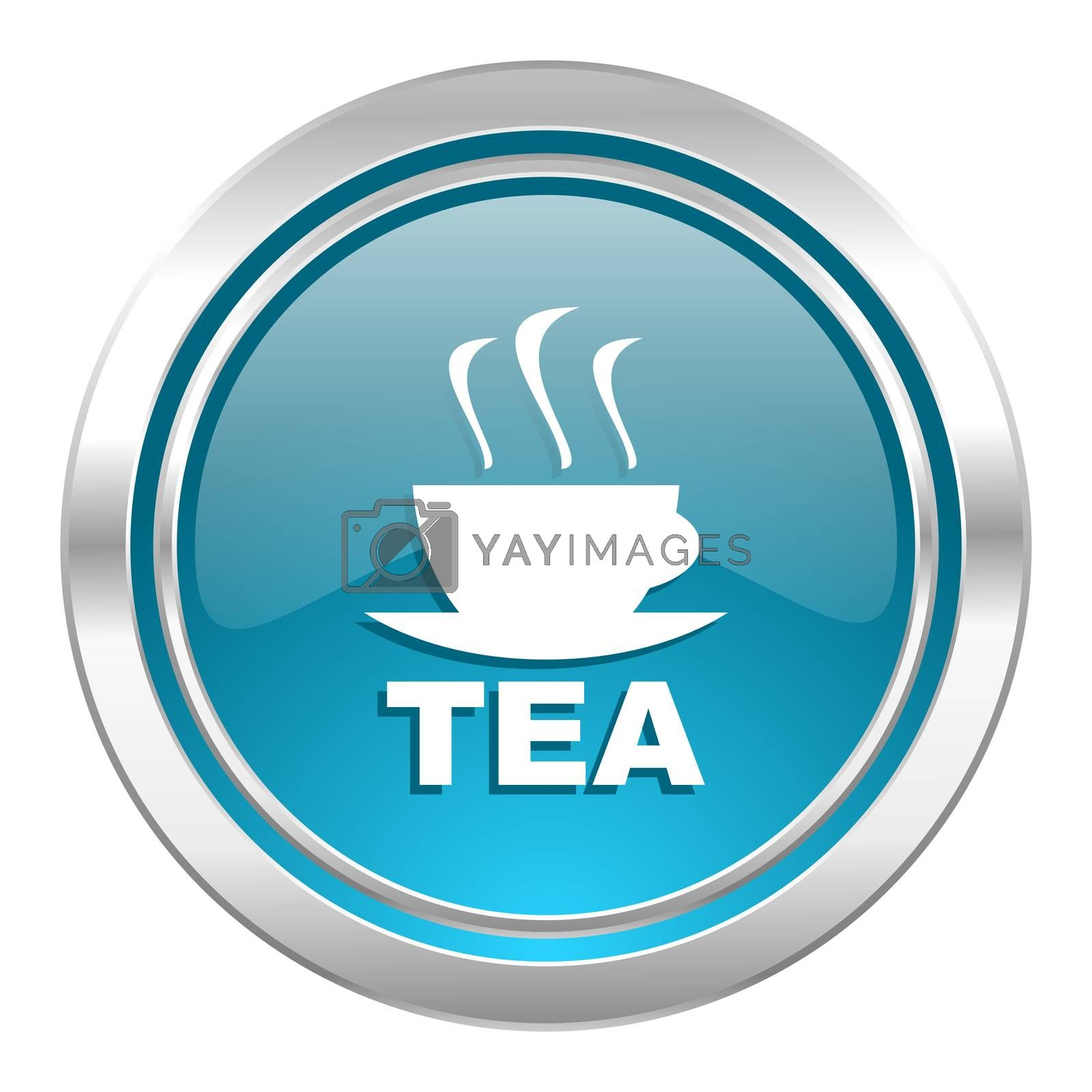 tea icon, hot cup of tea sign
